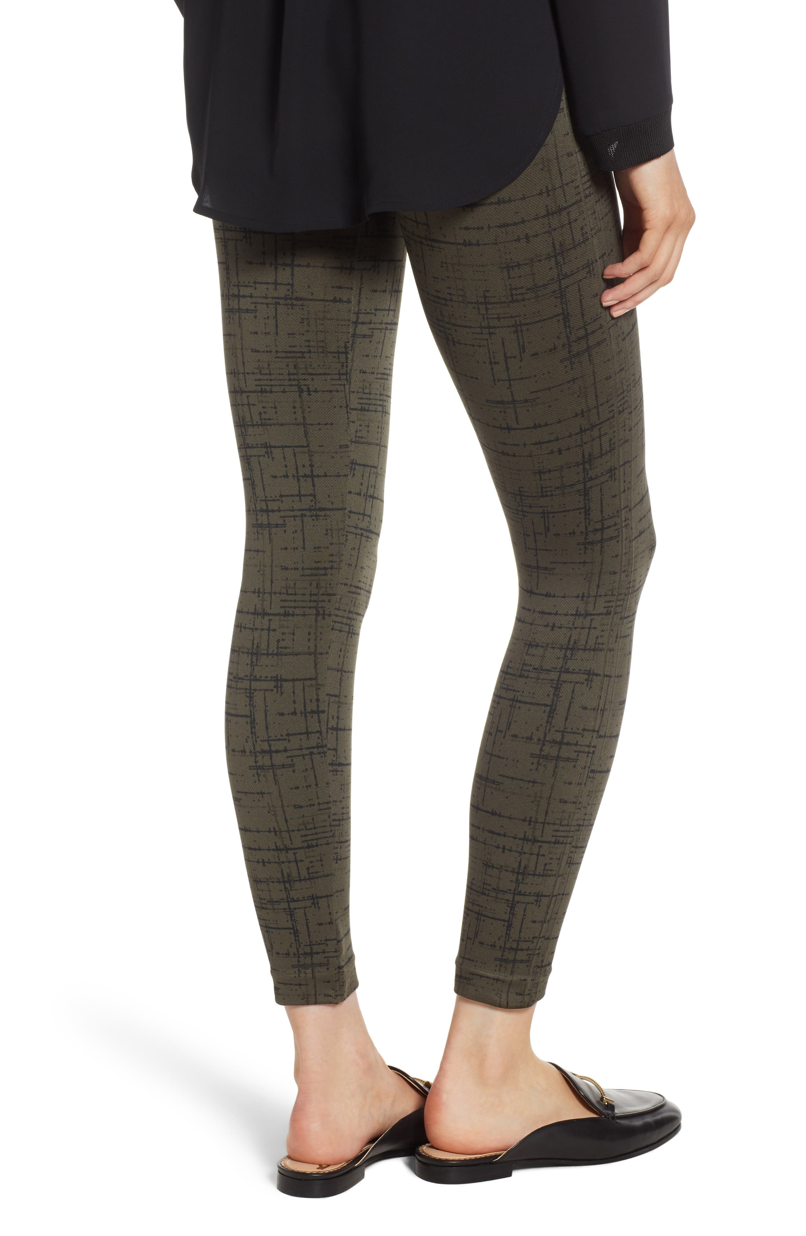 Look at Me Now' Seamless Leggings,                             Alternate thumbnail 3, color,                             OLIVE CROSSHATCH