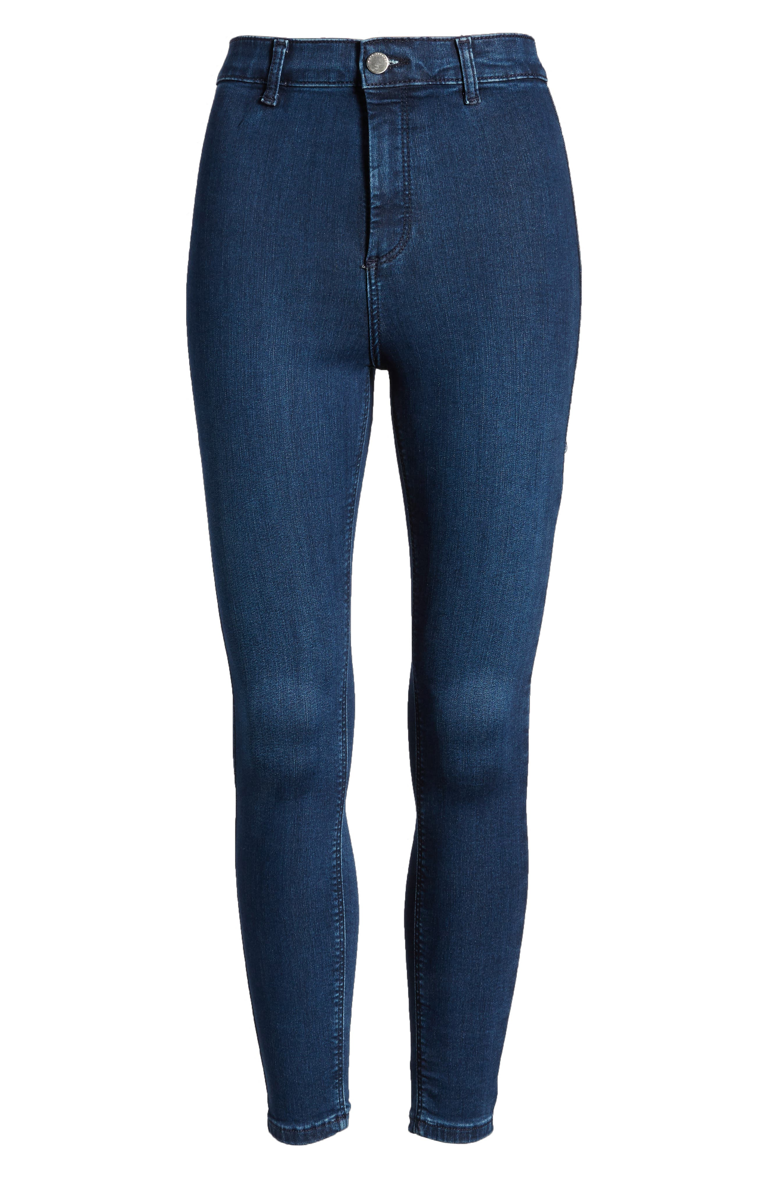 Moto Joni Indigo Jeans,                             Alternate thumbnail 6, color,                             400