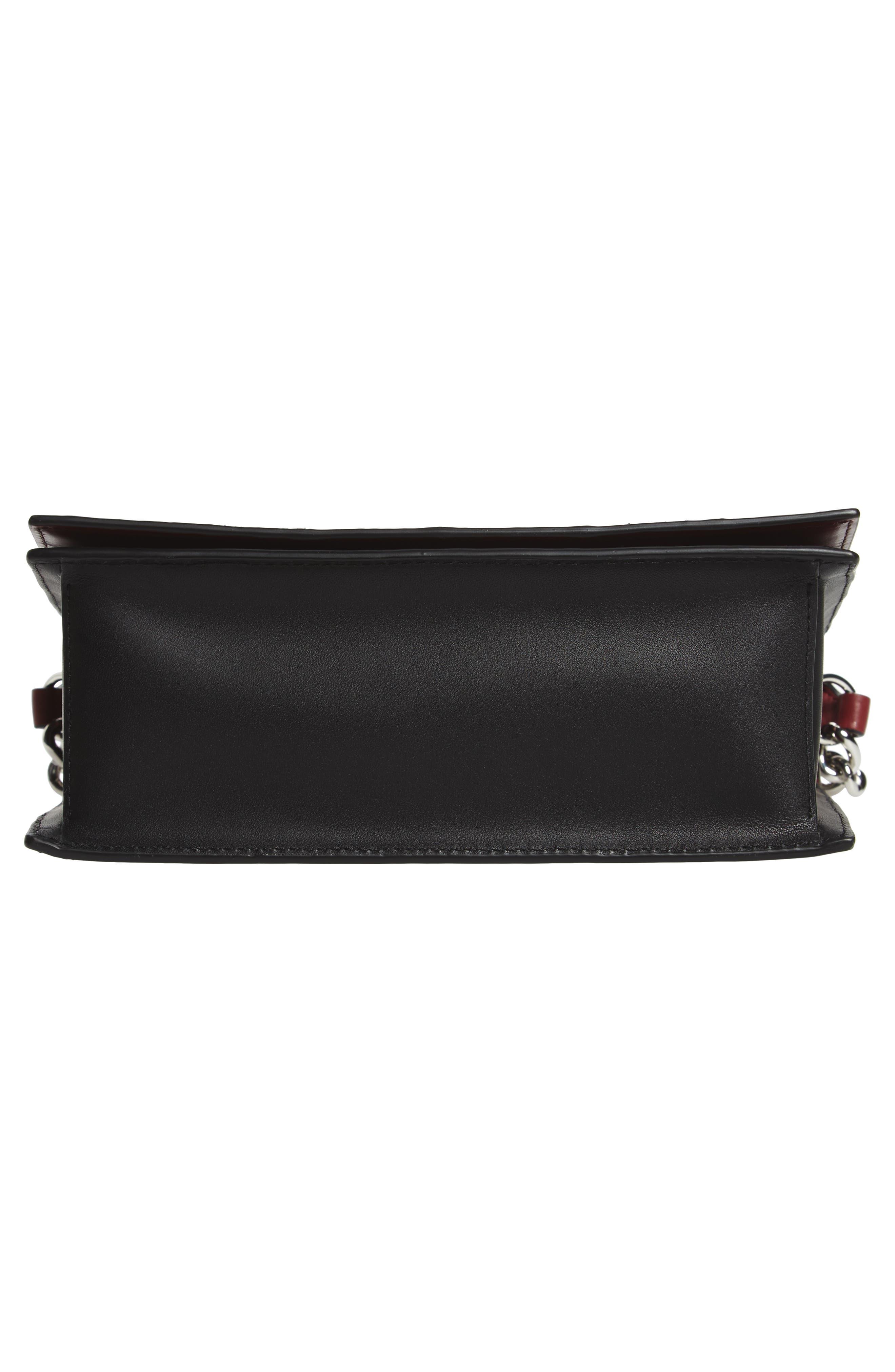 Bonne Soirée Leather & Genuine Snakeskin Top Handle Bag,                             Alternate thumbnail 6, color,