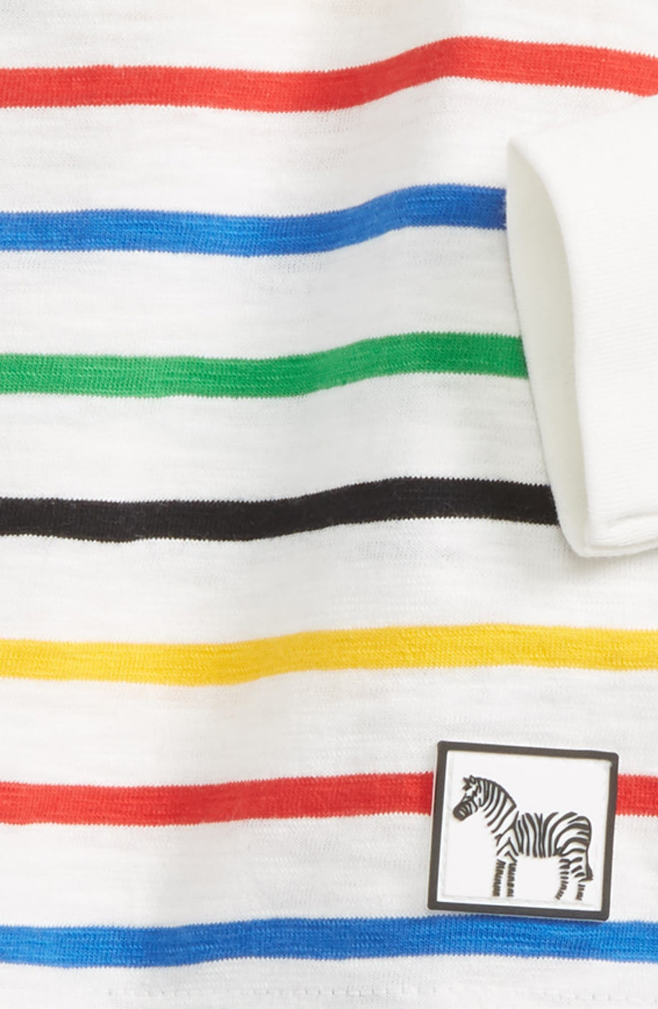 Zebra T-Shirt & Jogger Pants Set,                             Alternate thumbnail 2, color,                             001