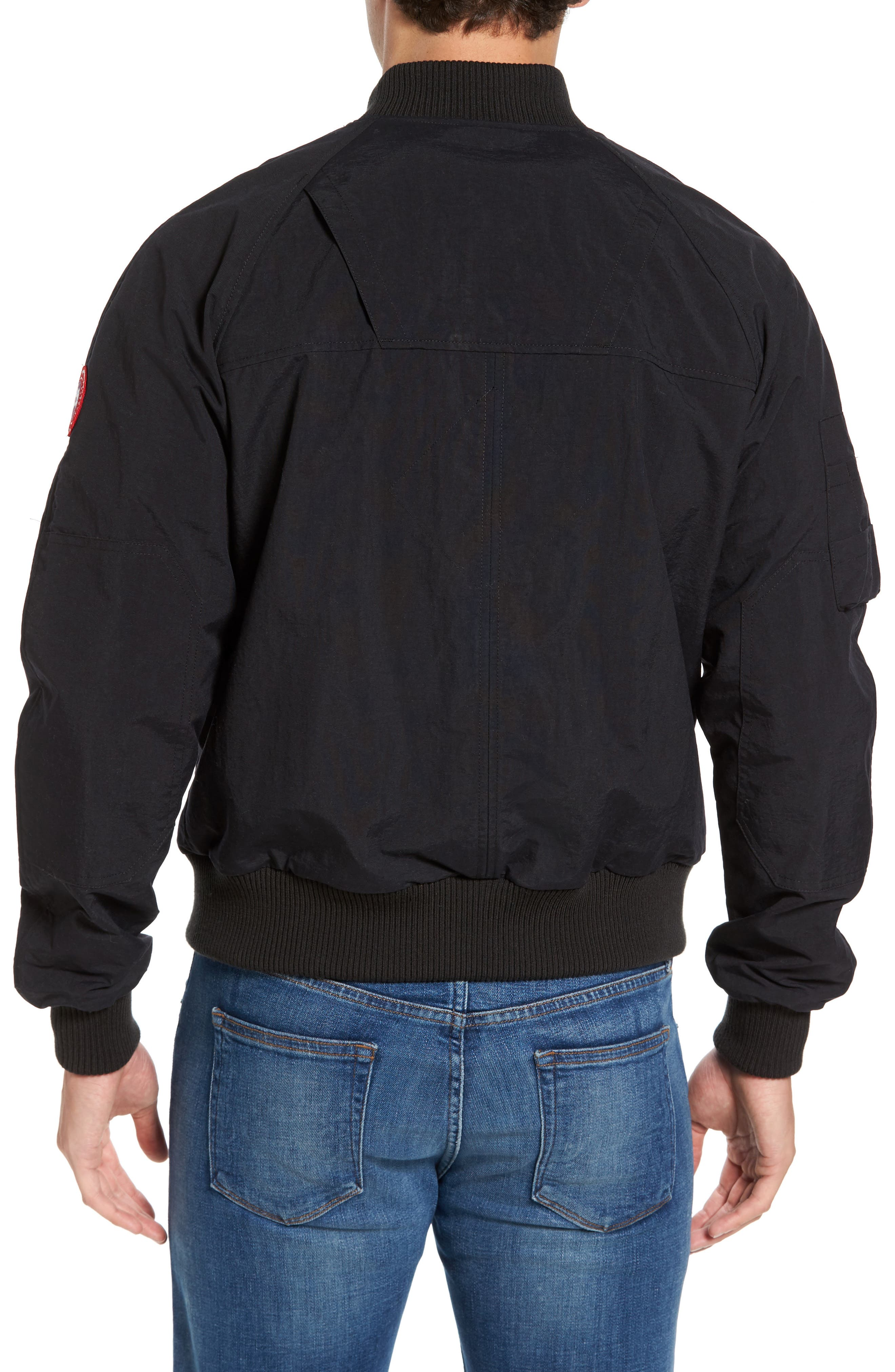 Faber Slim Fit Bomber Jacket,                             Alternate thumbnail 2, color,                             BLACK