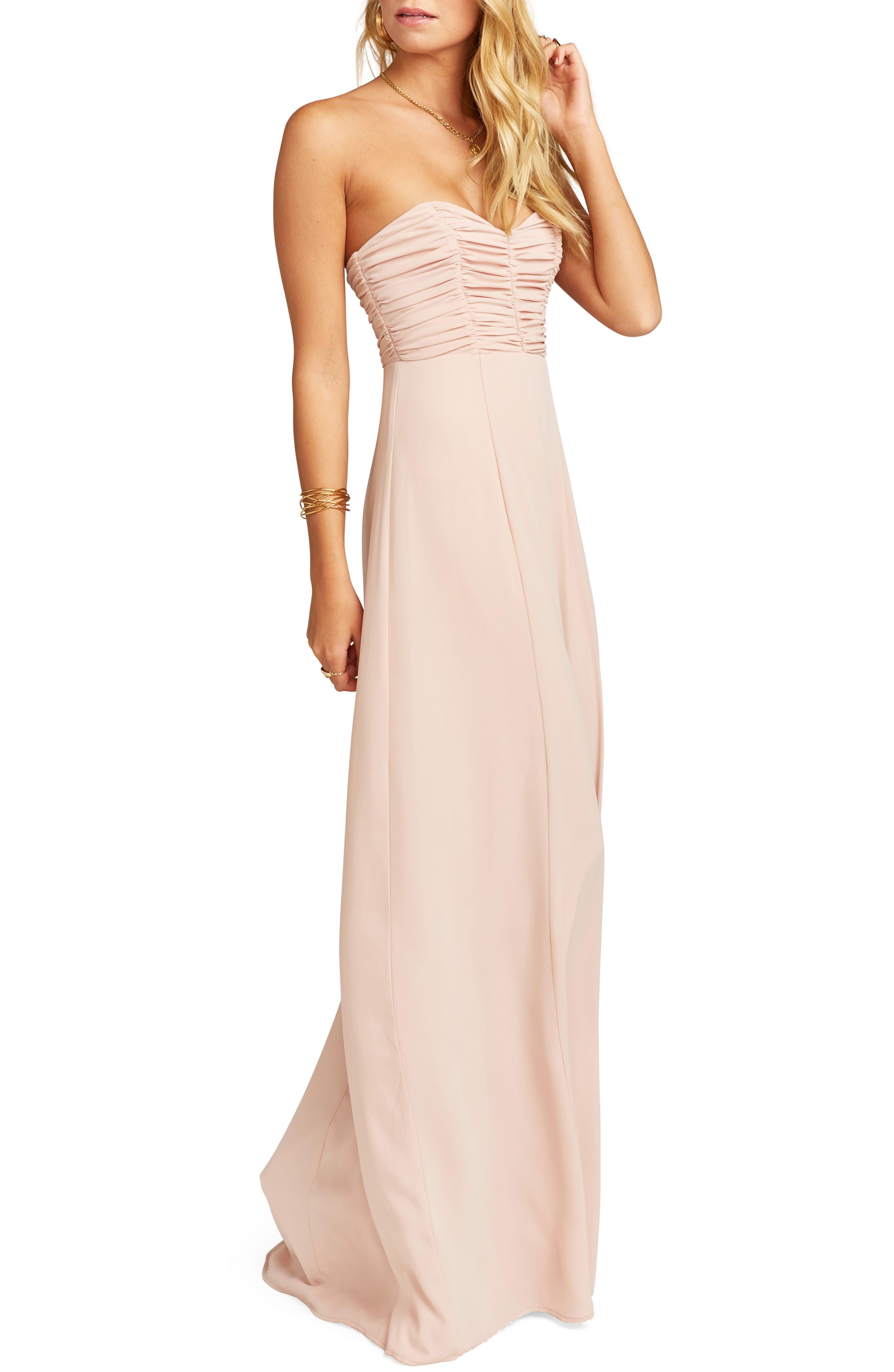 Show Me Your Mumu Bonbon Optional Strap Gown, Pink