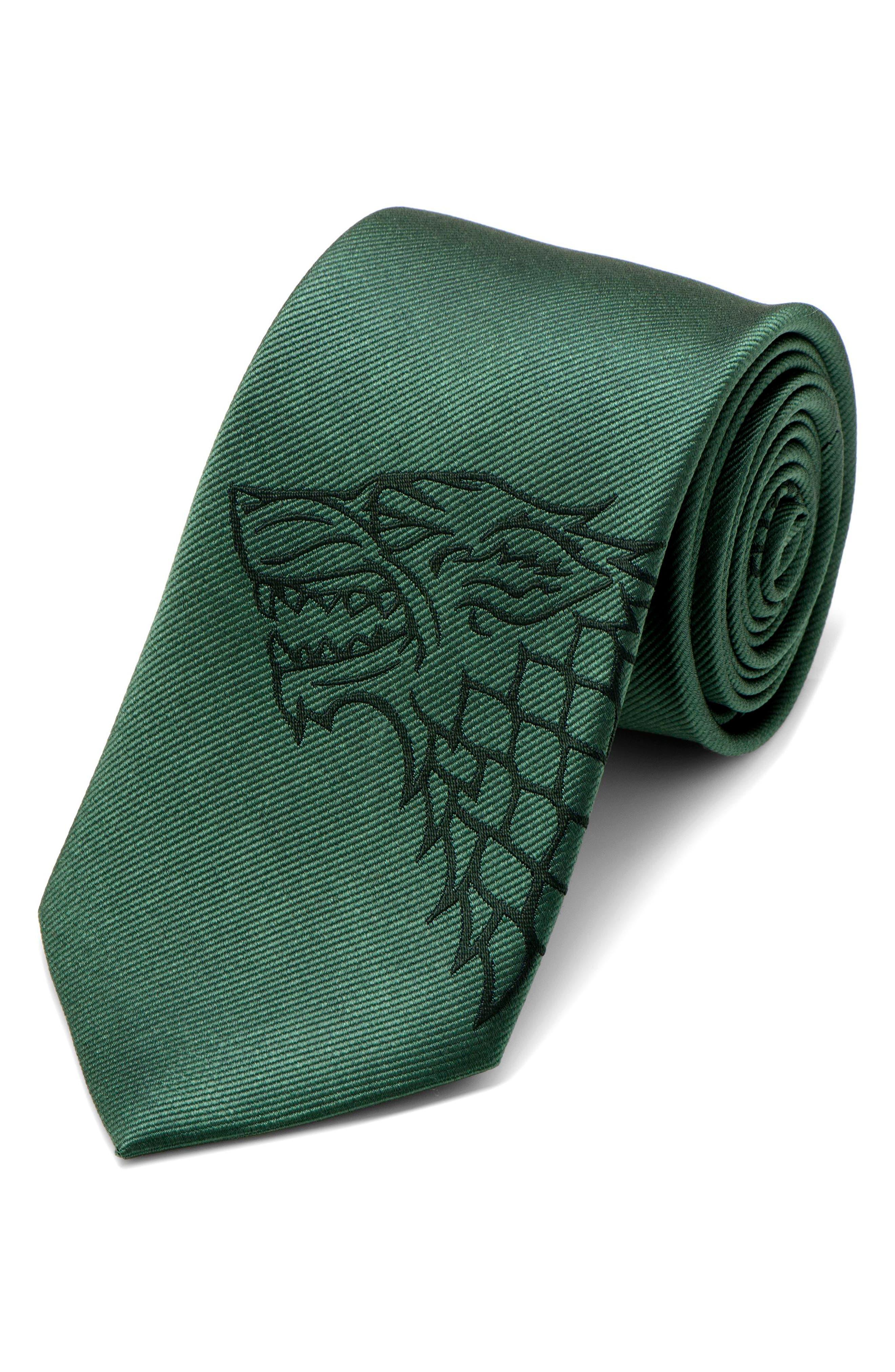 Game of Thrones Stark Silk Tie,                         Main,                         color, GREEN