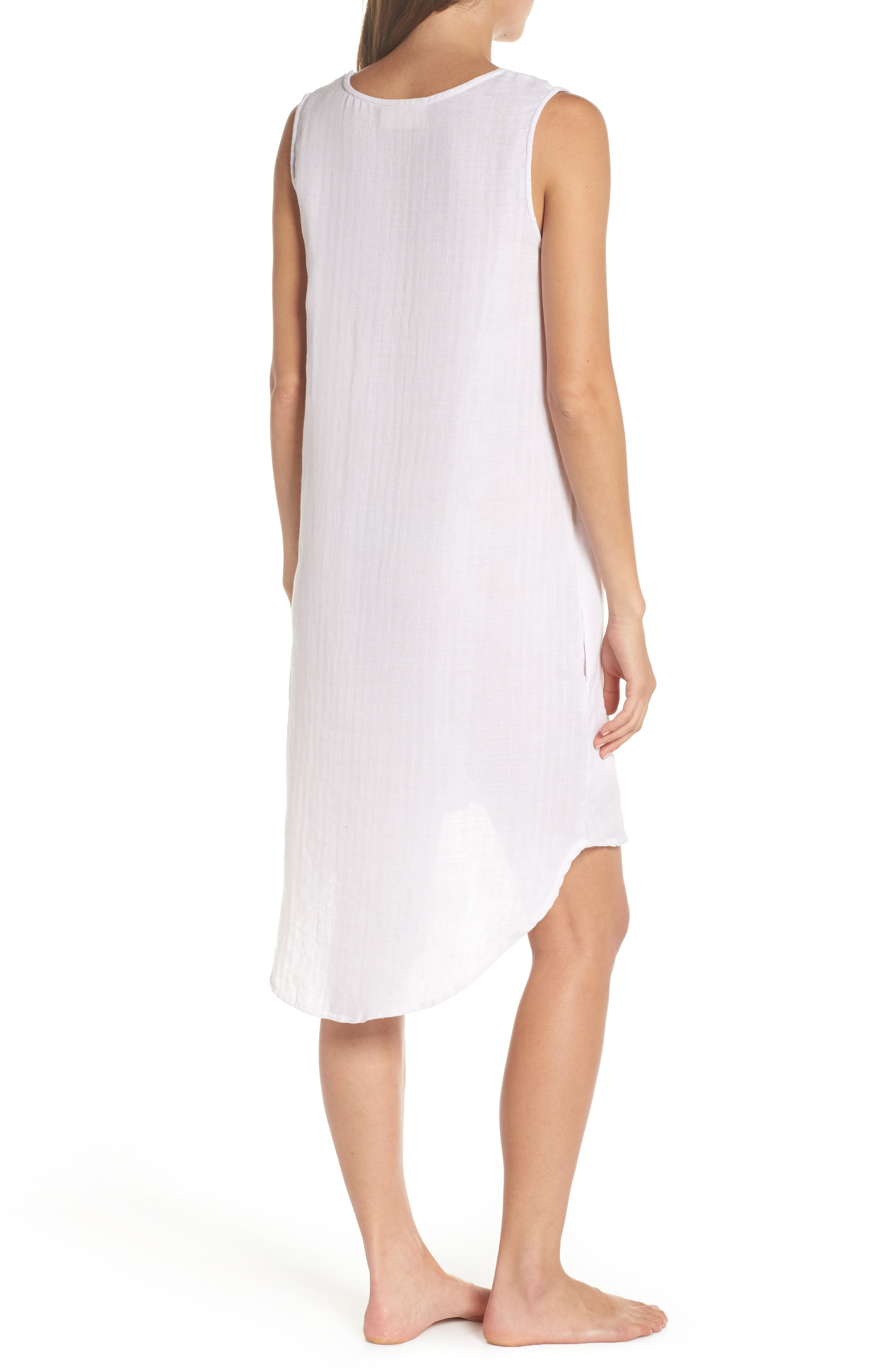 Basic Stripe Nightgown,                             Alternate thumbnail 2, color,                             110