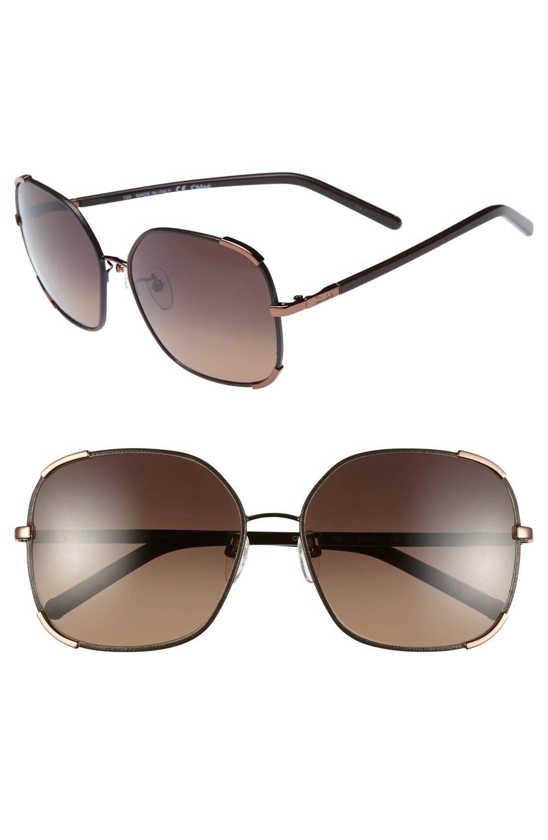 Chloe 'Nerine' 58mm Sunglasses, Main, color, 220