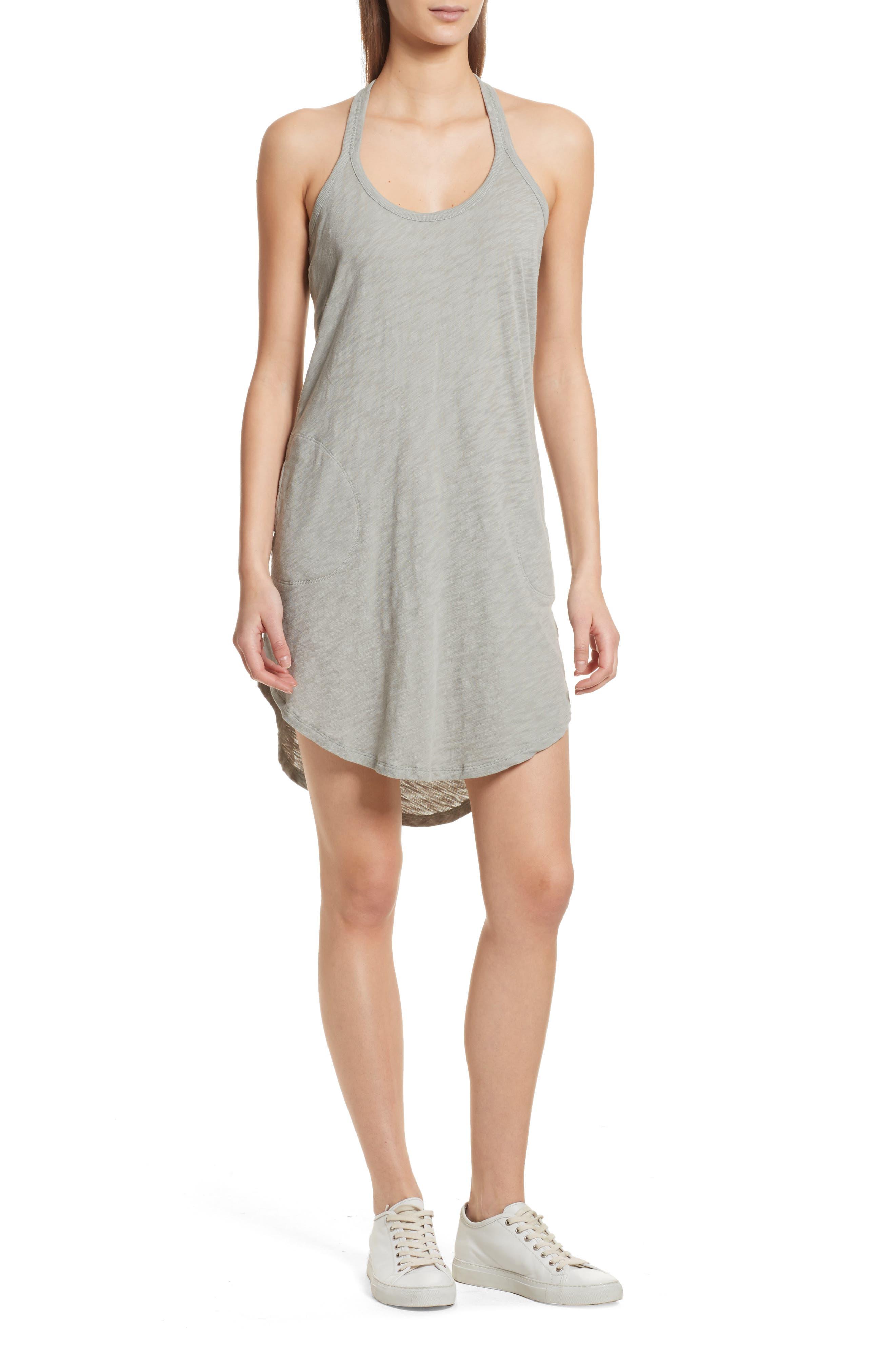 Cotton Trapeze Tank Dress,                             Main thumbnail 2, color,