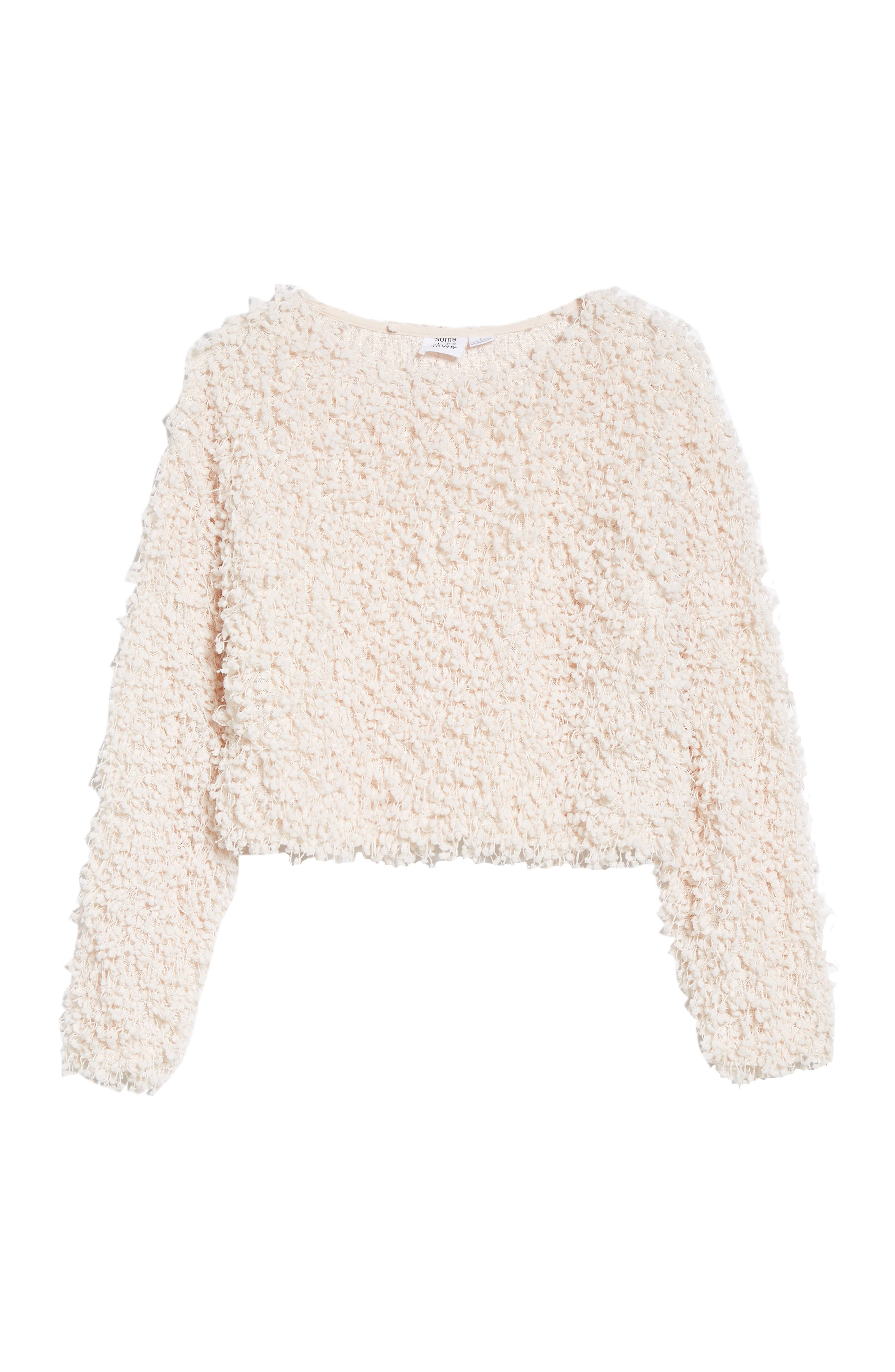 Glorious Crop Sweater,                             Alternate thumbnail 6, color,                             CREAM