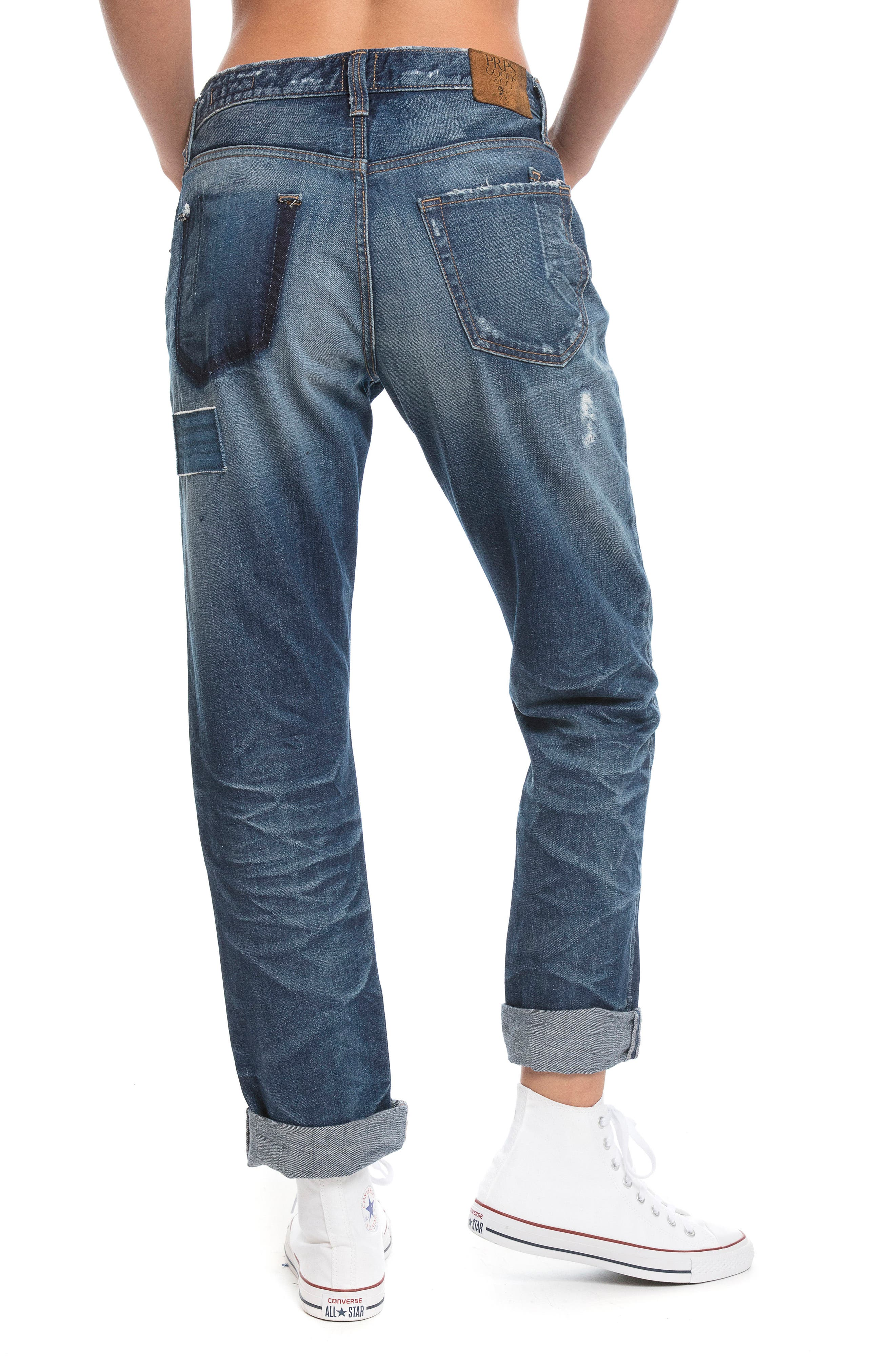 El Camino - Patch It Boyfriend Jeans,                             Alternate thumbnail 3, color,                             INDIGO