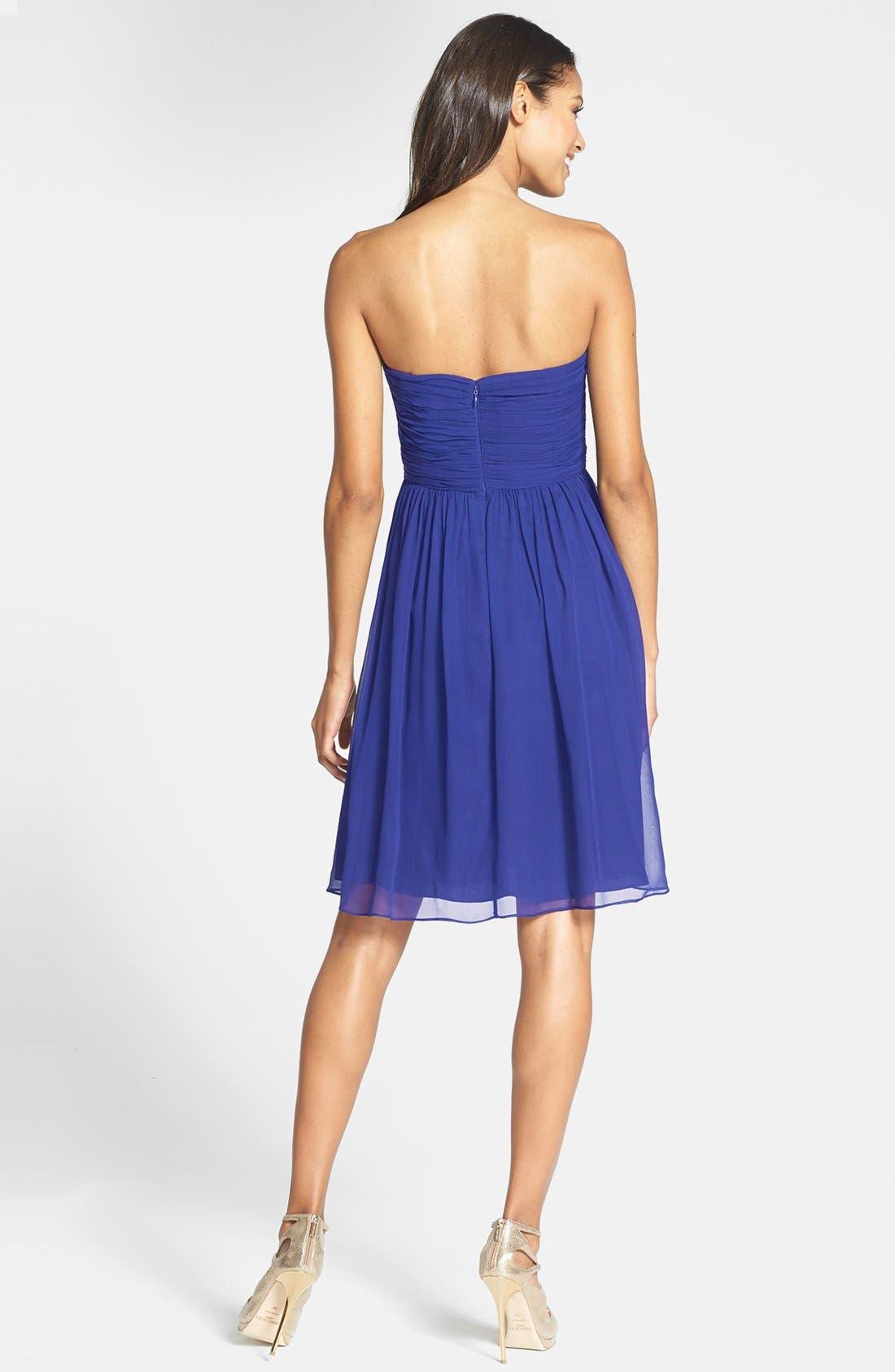 'Morgan' Strapless Silk Chiffon Dress,                             Alternate thumbnail 135, color,