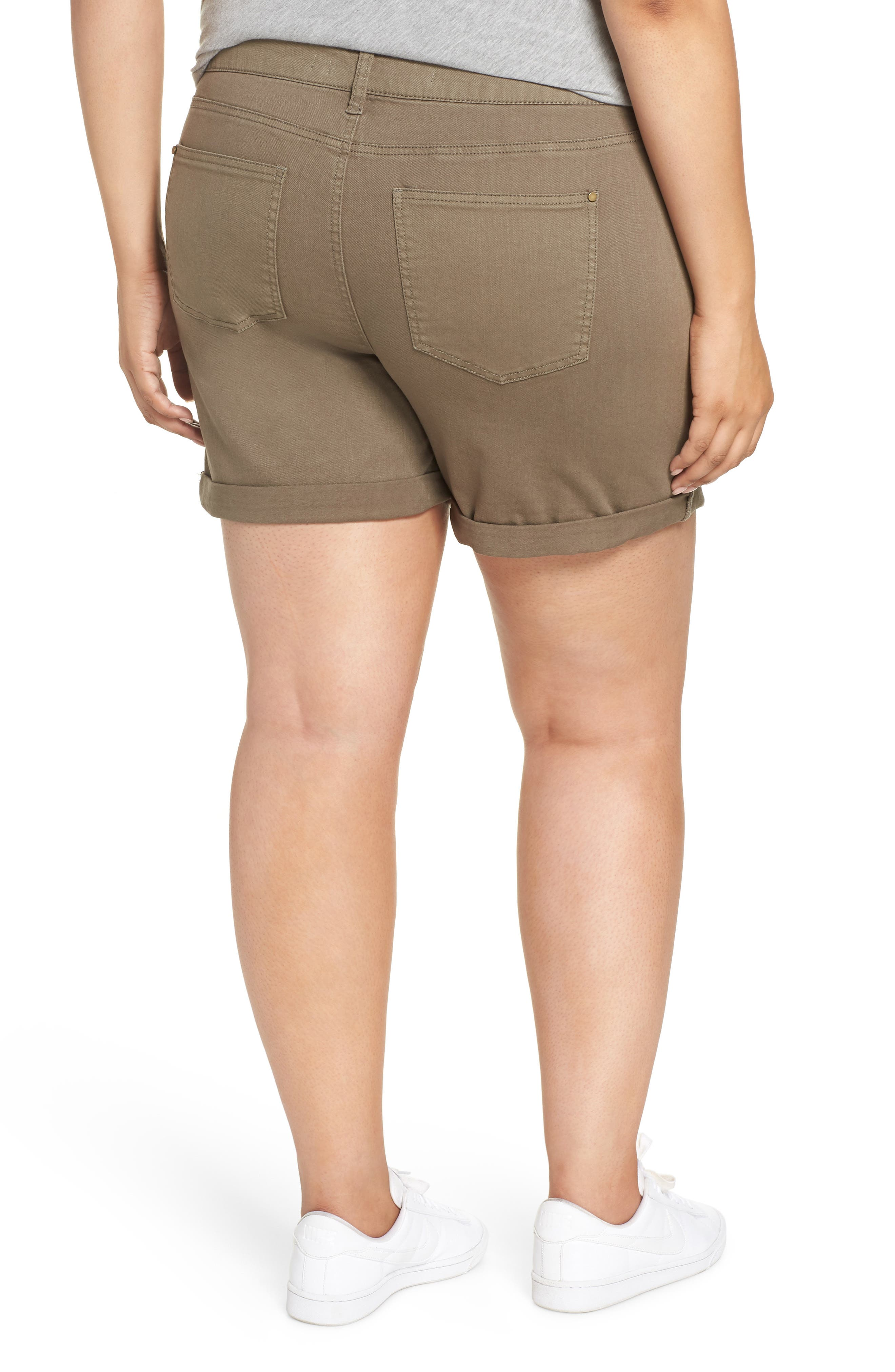 Ripped Bermuda Shorts,                             Alternate thumbnail 2, color,                             OLIVE