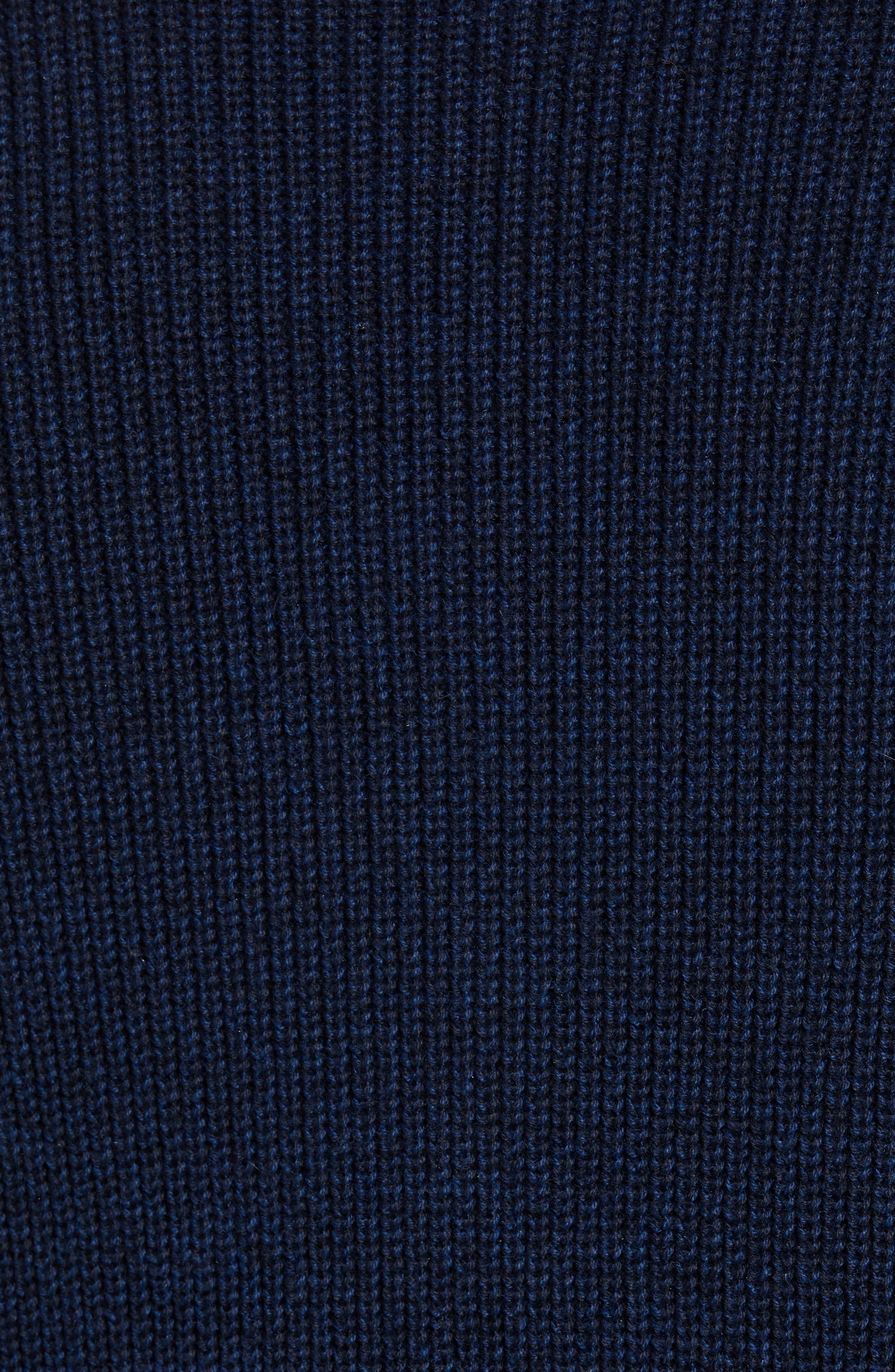 Fillmore Quarter Zip Sweater,                             Alternate thumbnail 5, color,                             NAVY