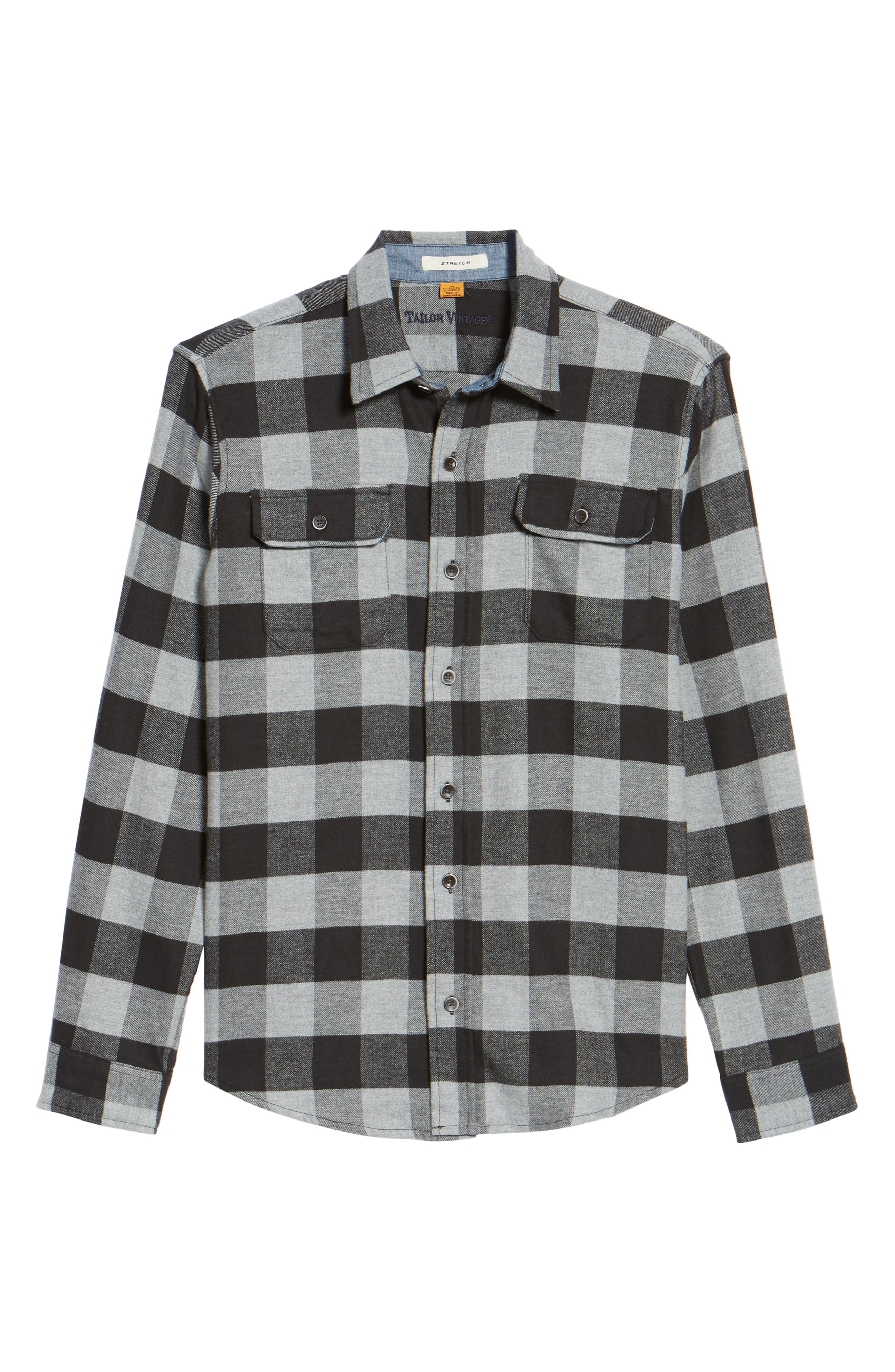 Buffalo Check Flannel Shirt,                             Alternate thumbnail 11, color,