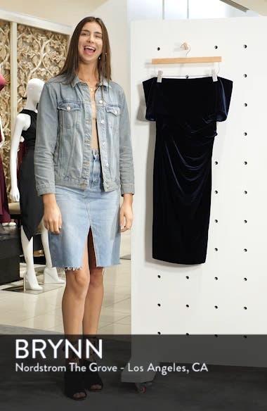 Velvet Off the Shoulder Dress, sales video thumbnail