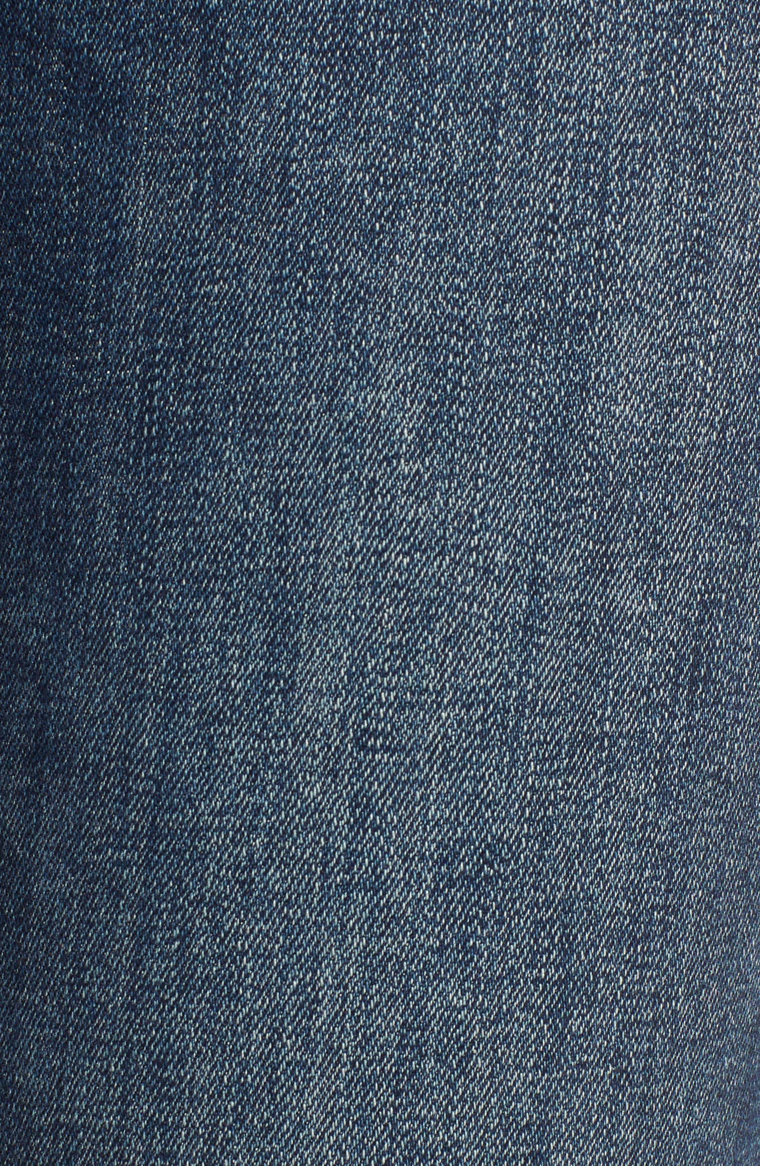 Stevie Ripped Crop Slim Boyfriend Jeans,                             Alternate thumbnail 6, color,                             HAWLEY