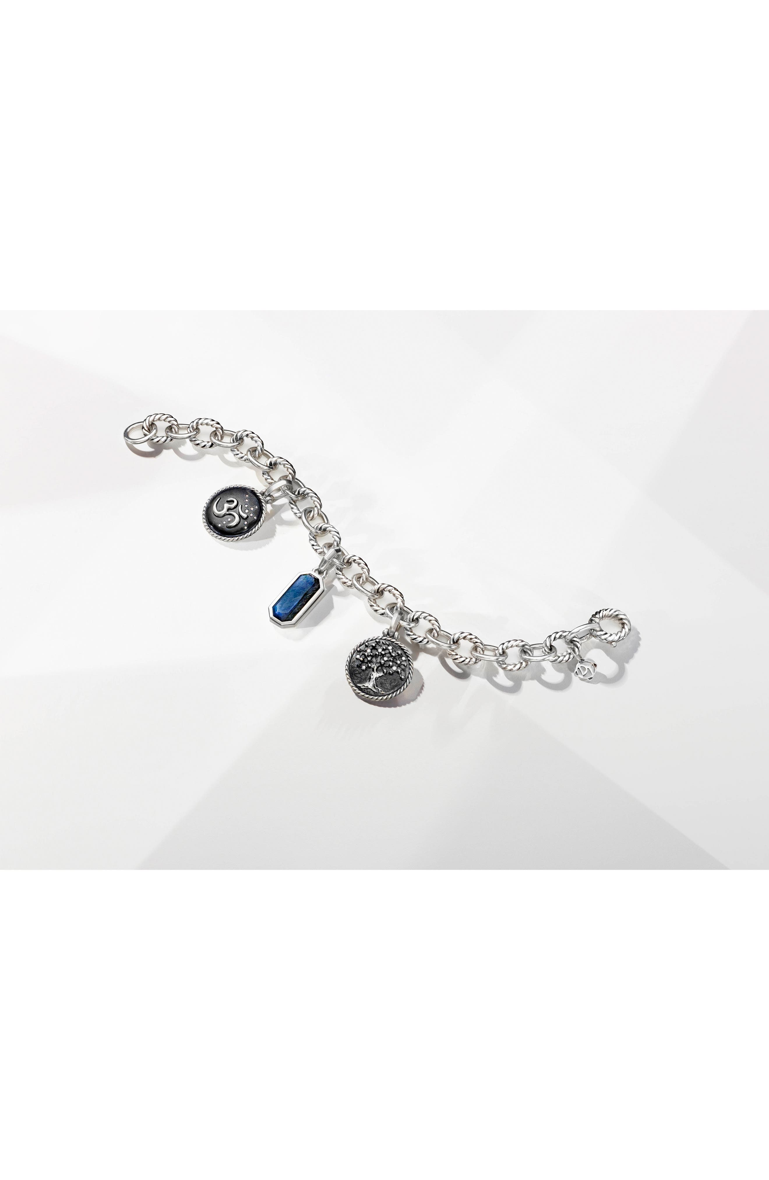 Cable Collectives Oval Link Charm Bracelet,                             Alternate thumbnail 3, color,                             SILVER