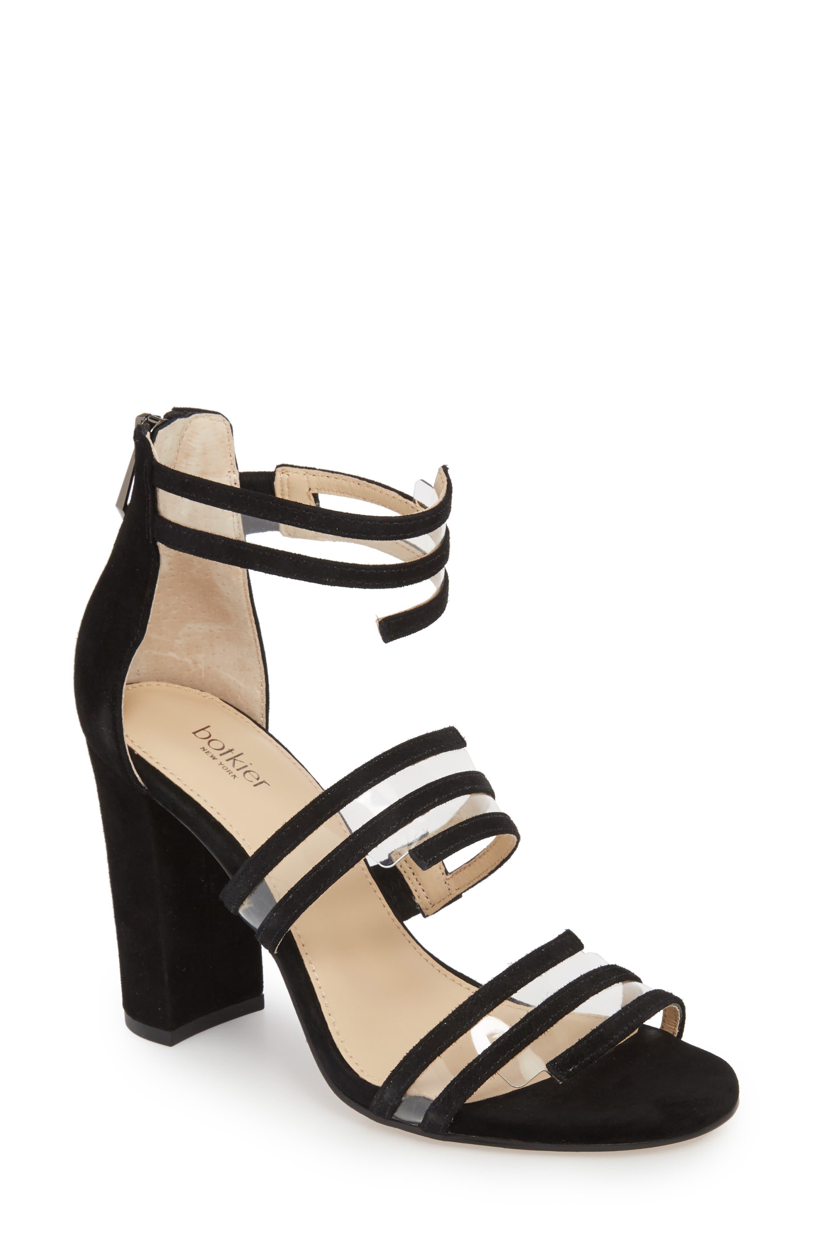 Grecia Sandal,                         Main,                         color, BLACK SUEDE