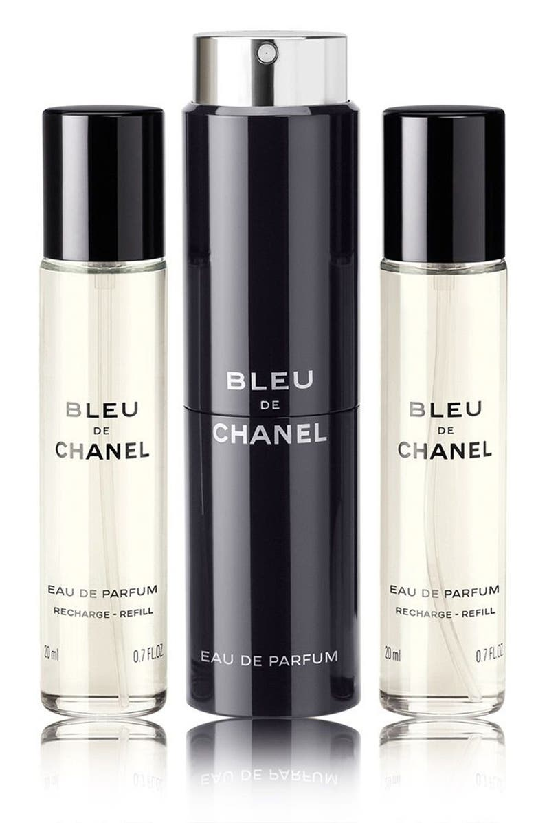 CHANEL BLEU DE CHANEL EAU DE PARFUM POUR HOMME Refillable Travel Spray Set 12f1231ad