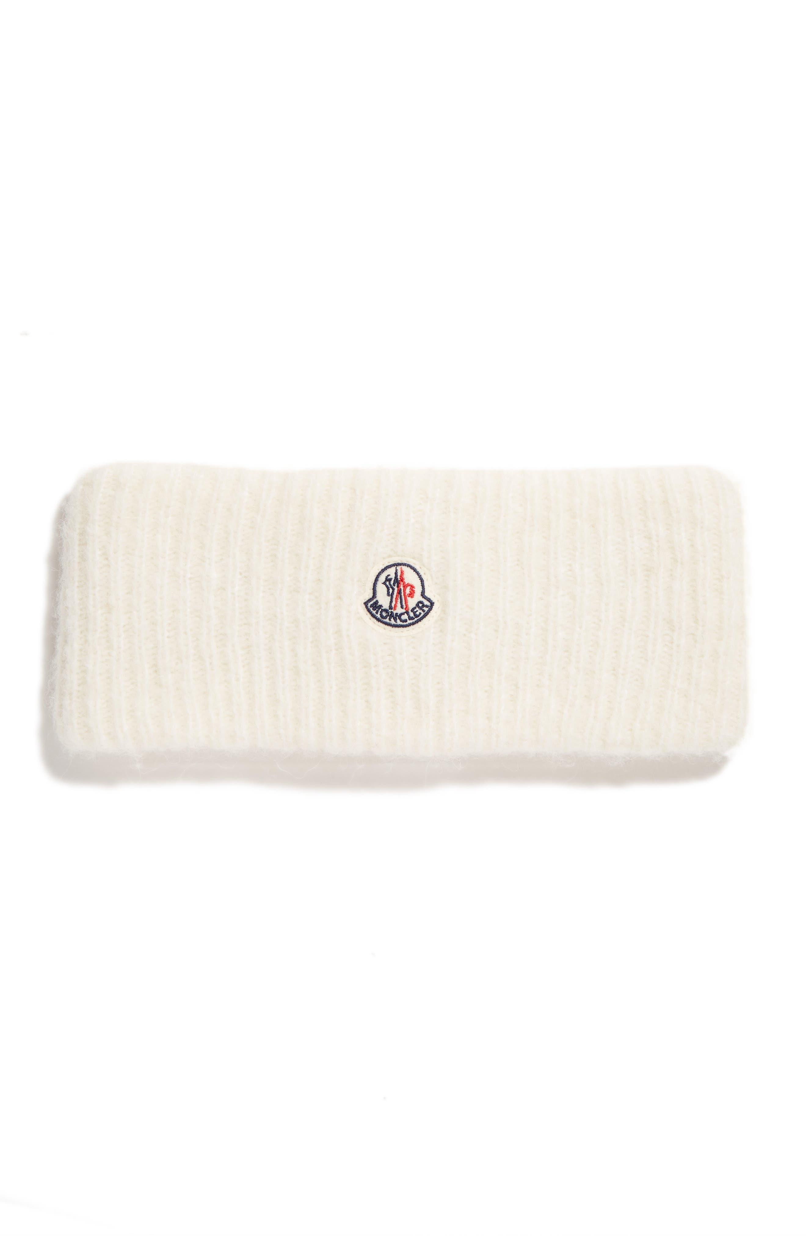 Knit Wool & Alpaca Blend Headband,                         Main,                         color, IVORY