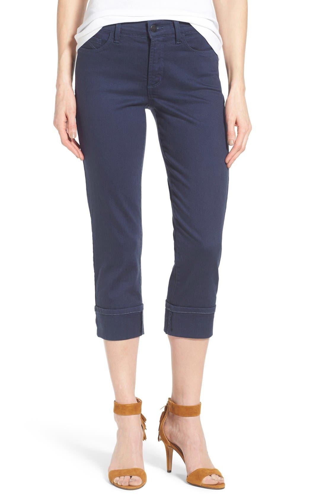 'Dayla' Colored Wide Cuff Capri Jeans,                             Main thumbnail 7, color,