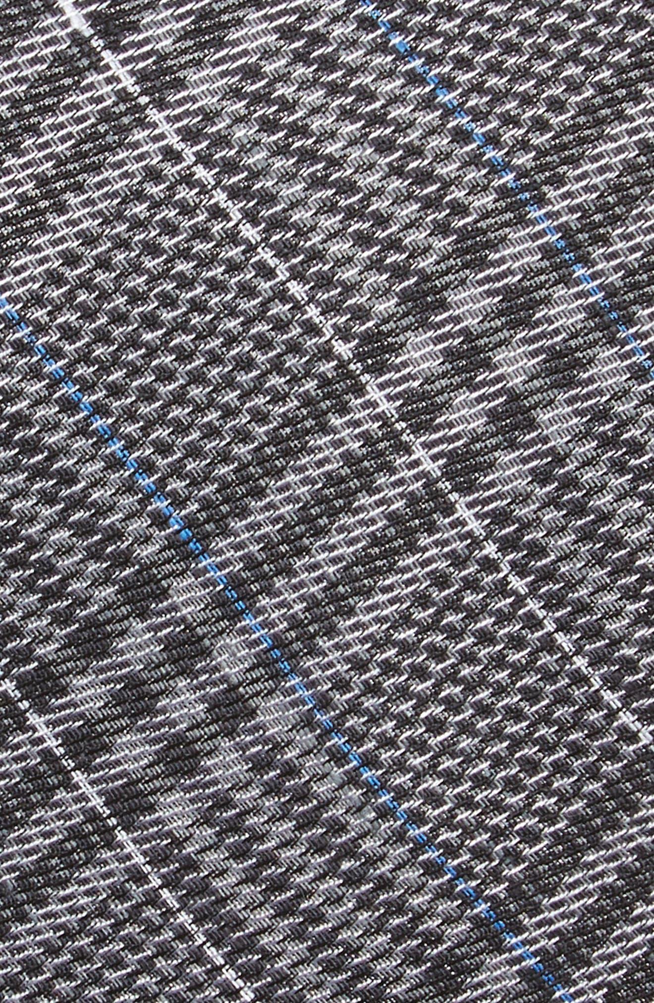 Columbus Plaid Linen & Silk Tie,                             Alternate thumbnail 2, color,                             030