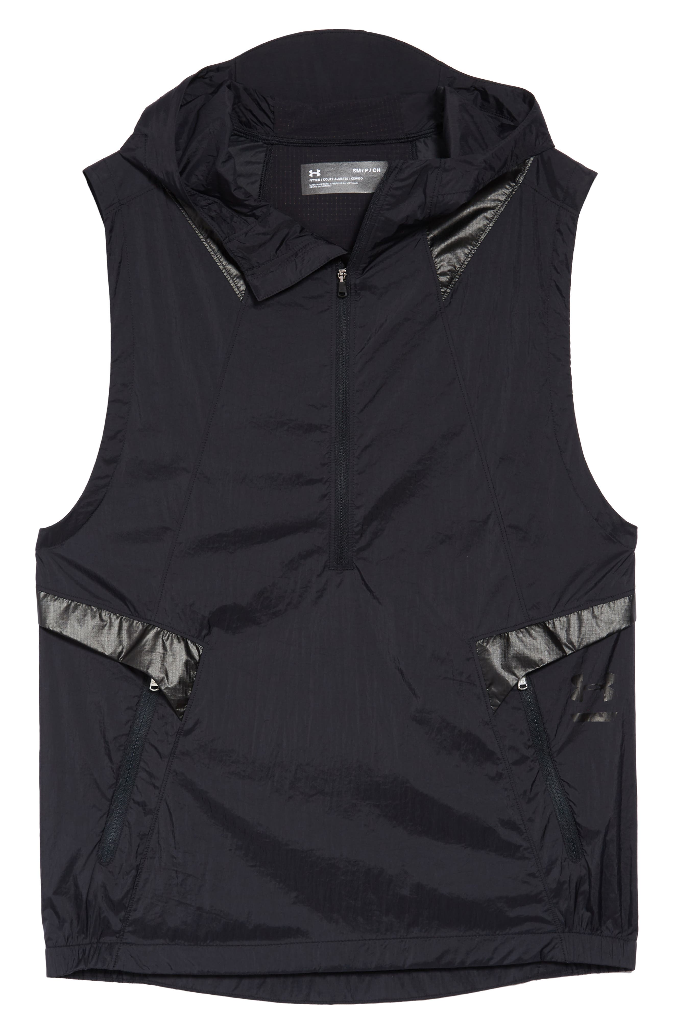 Perpetual 18 Fitted Hooded Vest,                             Alternate thumbnail 6, color,                             BLACK