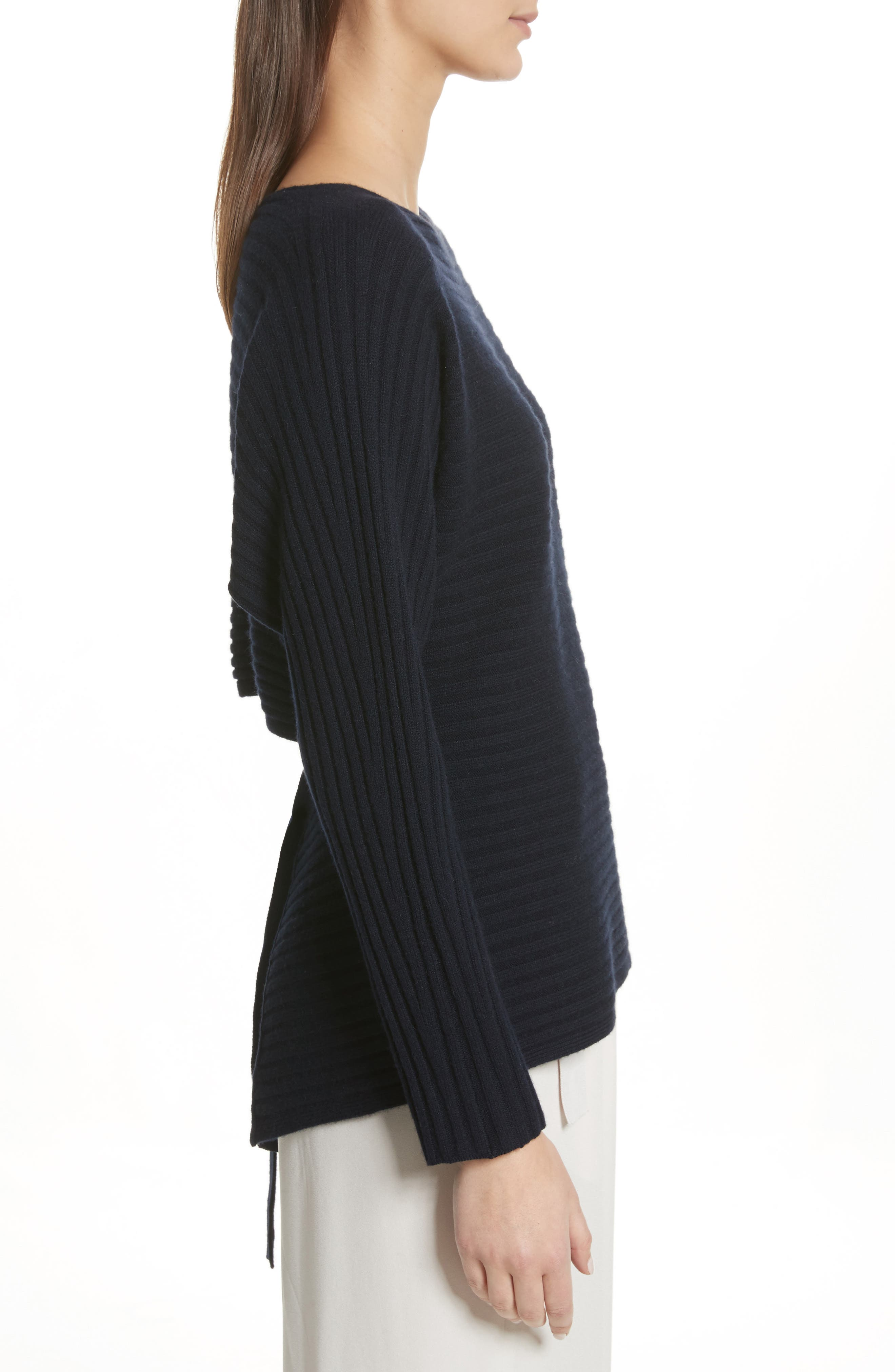 Tie Back Wool & Cashmere Sweater,                             Alternate thumbnail 7, color,