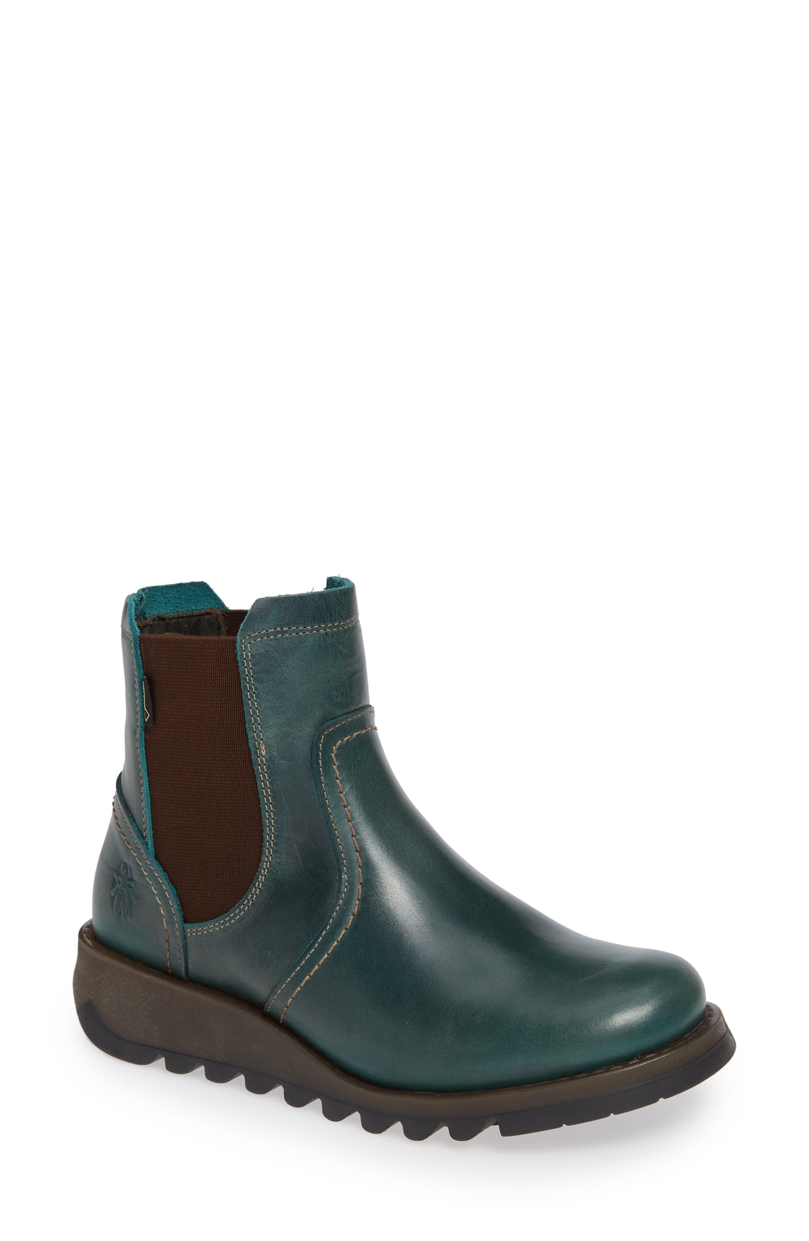 Scon Waterproof Gore-Tex<sup>®</sup> Chelsea Boot,                         Main,                         color, PETROL
