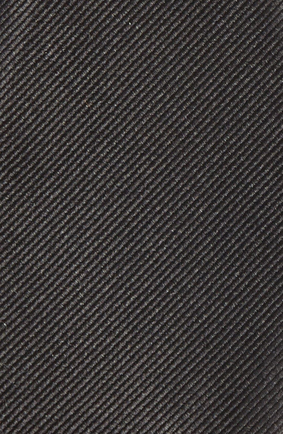 Silk Solid Bow Tie,                             Alternate thumbnail 3, color,                             BLACK