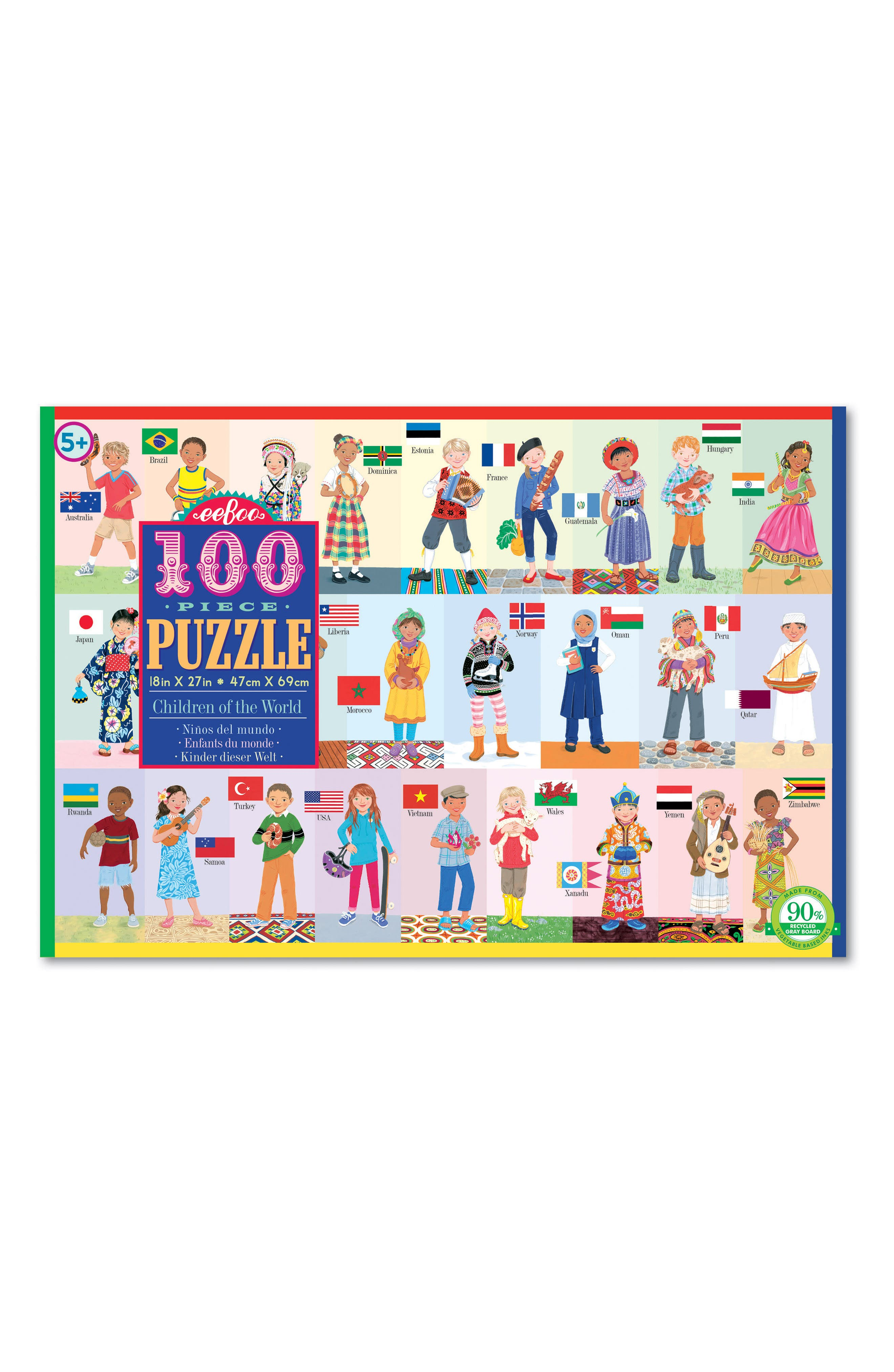 Children of the World 100-Piece Puzzle,                             Main thumbnail 1, color,                             400