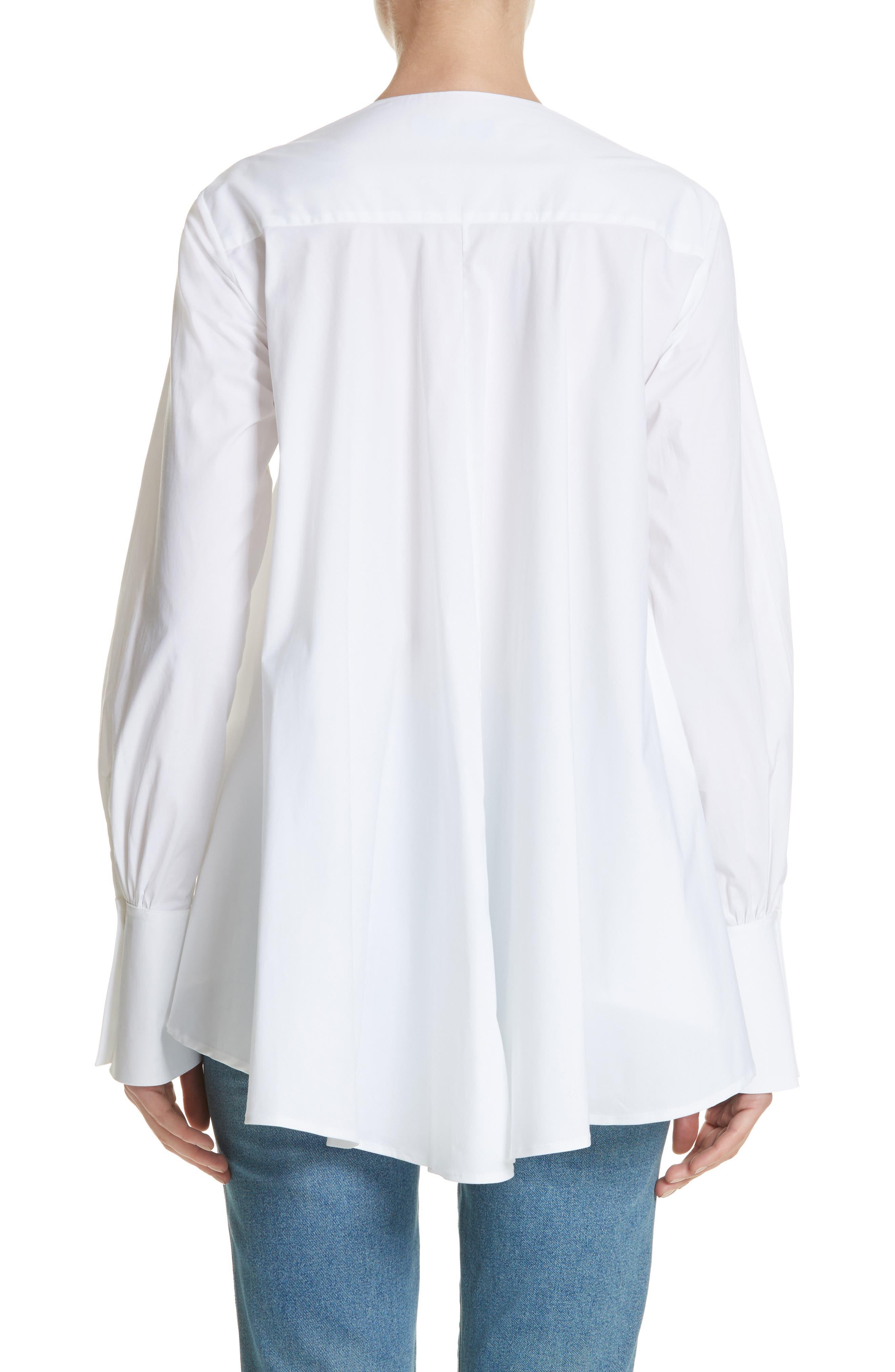 Portrait Open Collar Shirt,                             Alternate thumbnail 2, color,                             WHITE