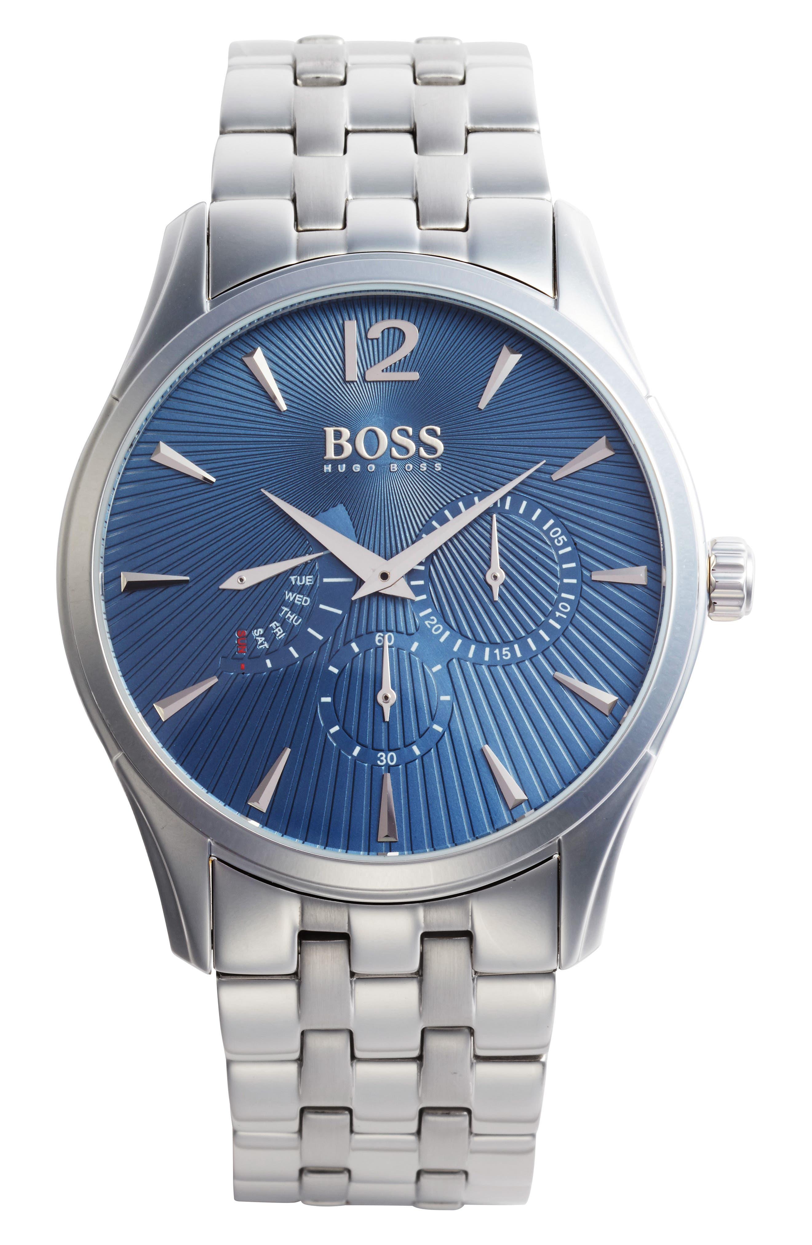 BOSS Commander Multifunction Bracelet Watch, 41mm,                             Main thumbnail 1, color,                             040