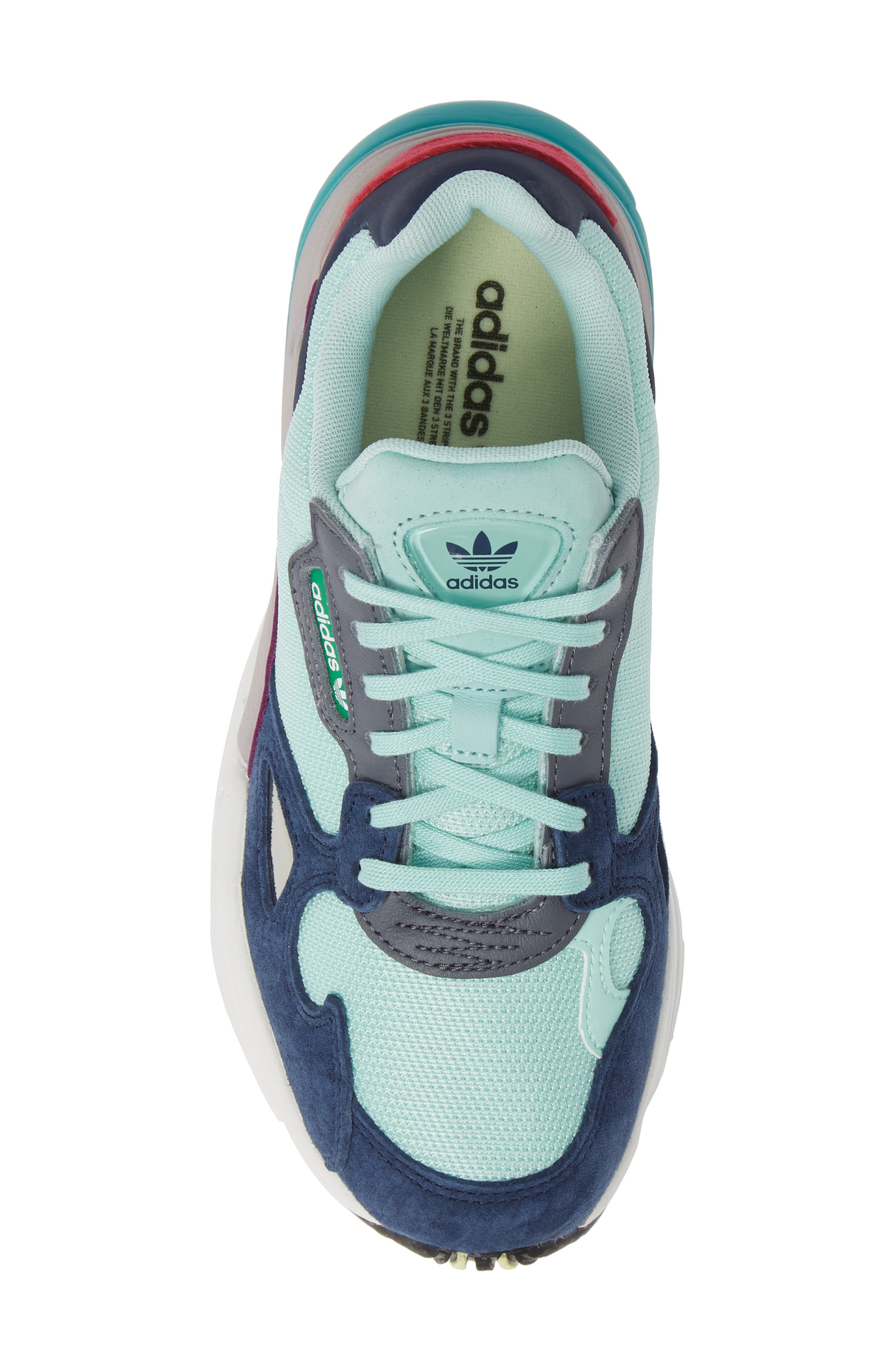 Falcon Sneaker,                             Alternate thumbnail 5, color,                             CLEAR MINT/ CLEAR MINT/ NAVY