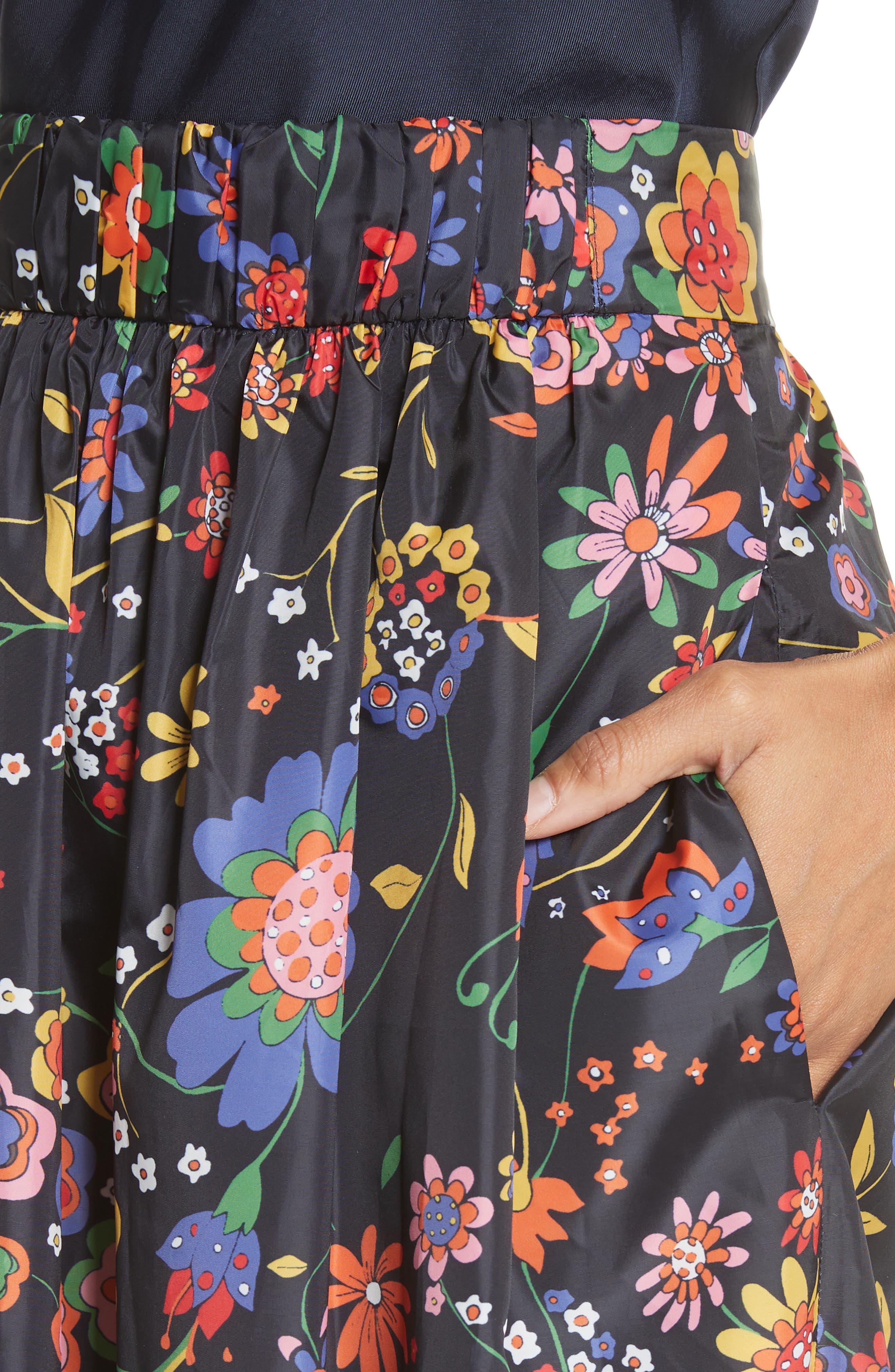 Print Tech Floral Skirt,                             Alternate thumbnail 4, color,                             402