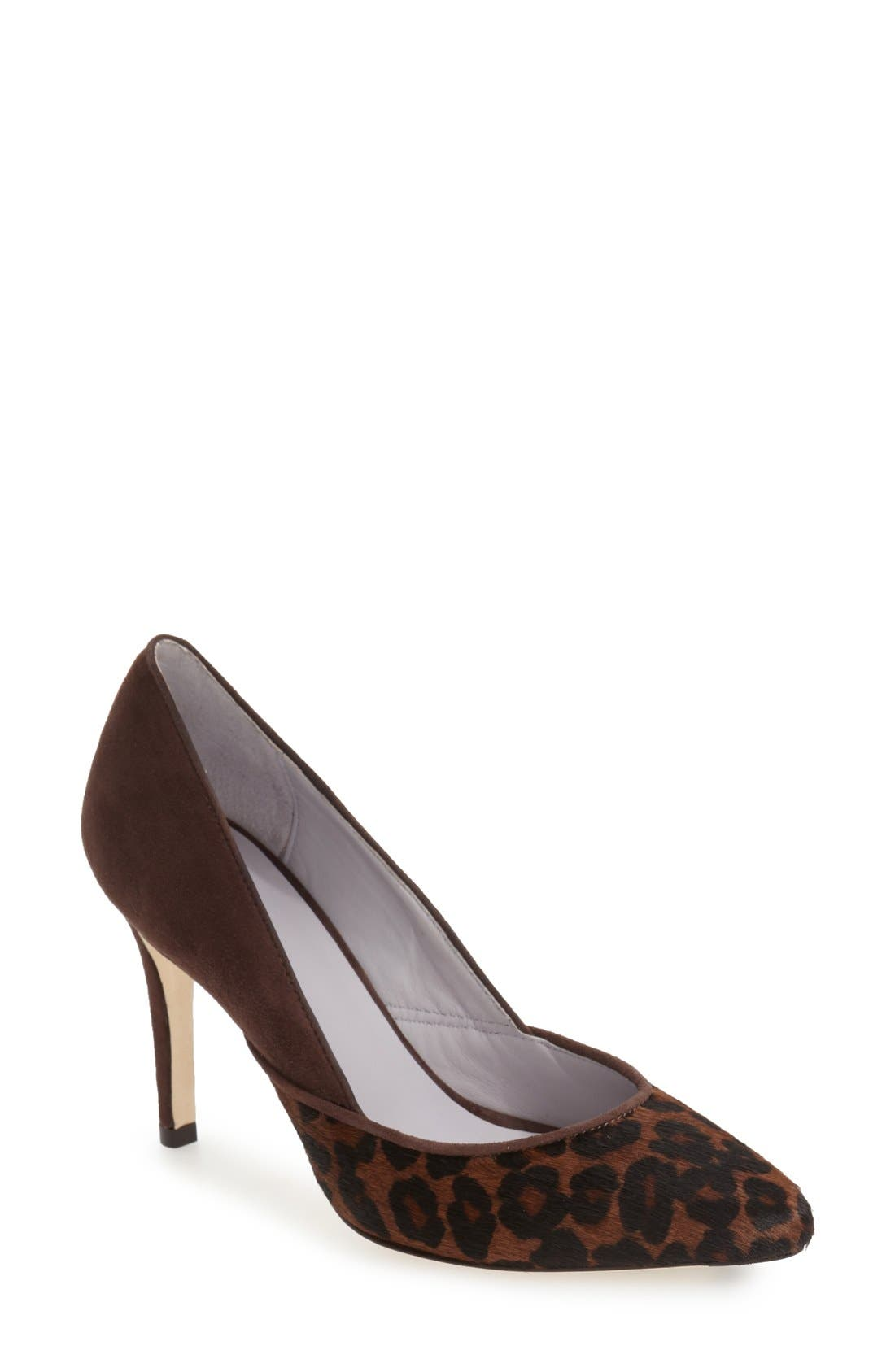 'Vanessa' Pointy Toe Leather Pump,                             Main thumbnail 5, color,