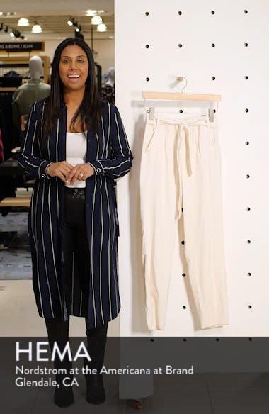 Flat Front Tie Waist Slim Pants, sales video thumbnail