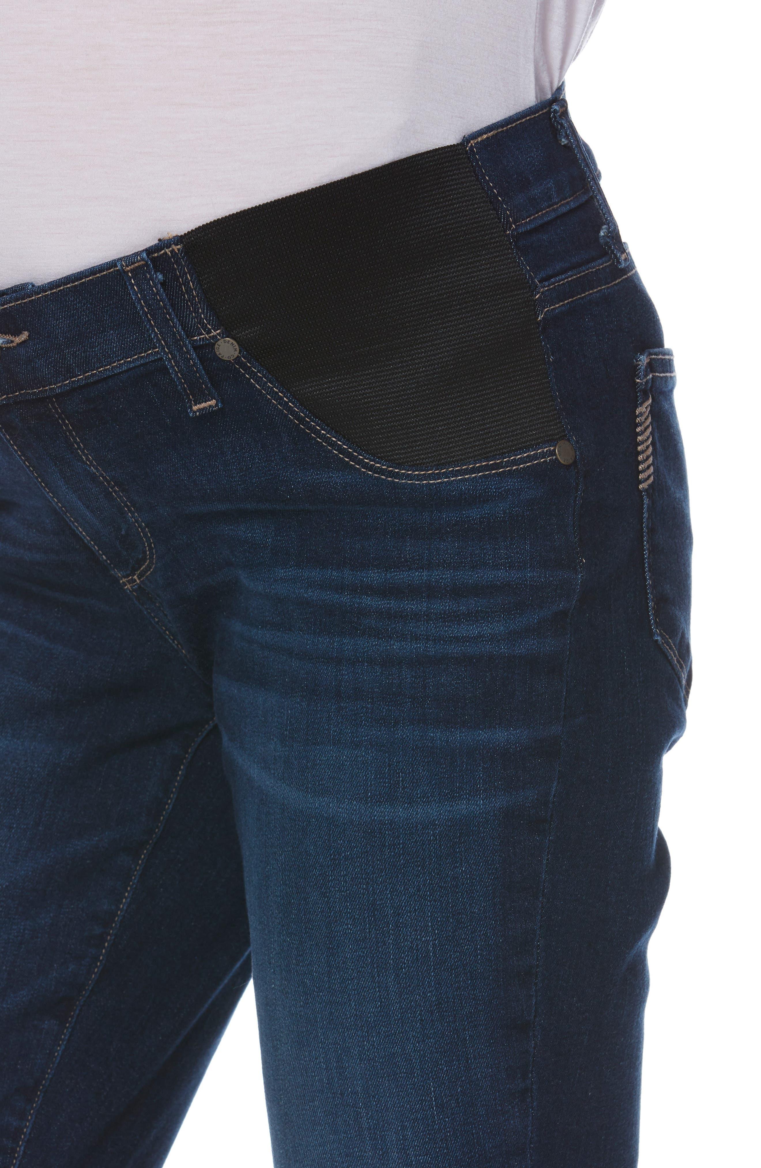 Transcend Vintage - Brigitte Crop Maternity Boyfriend Jeans,                             Alternate thumbnail 5, color,                             ENCHANT