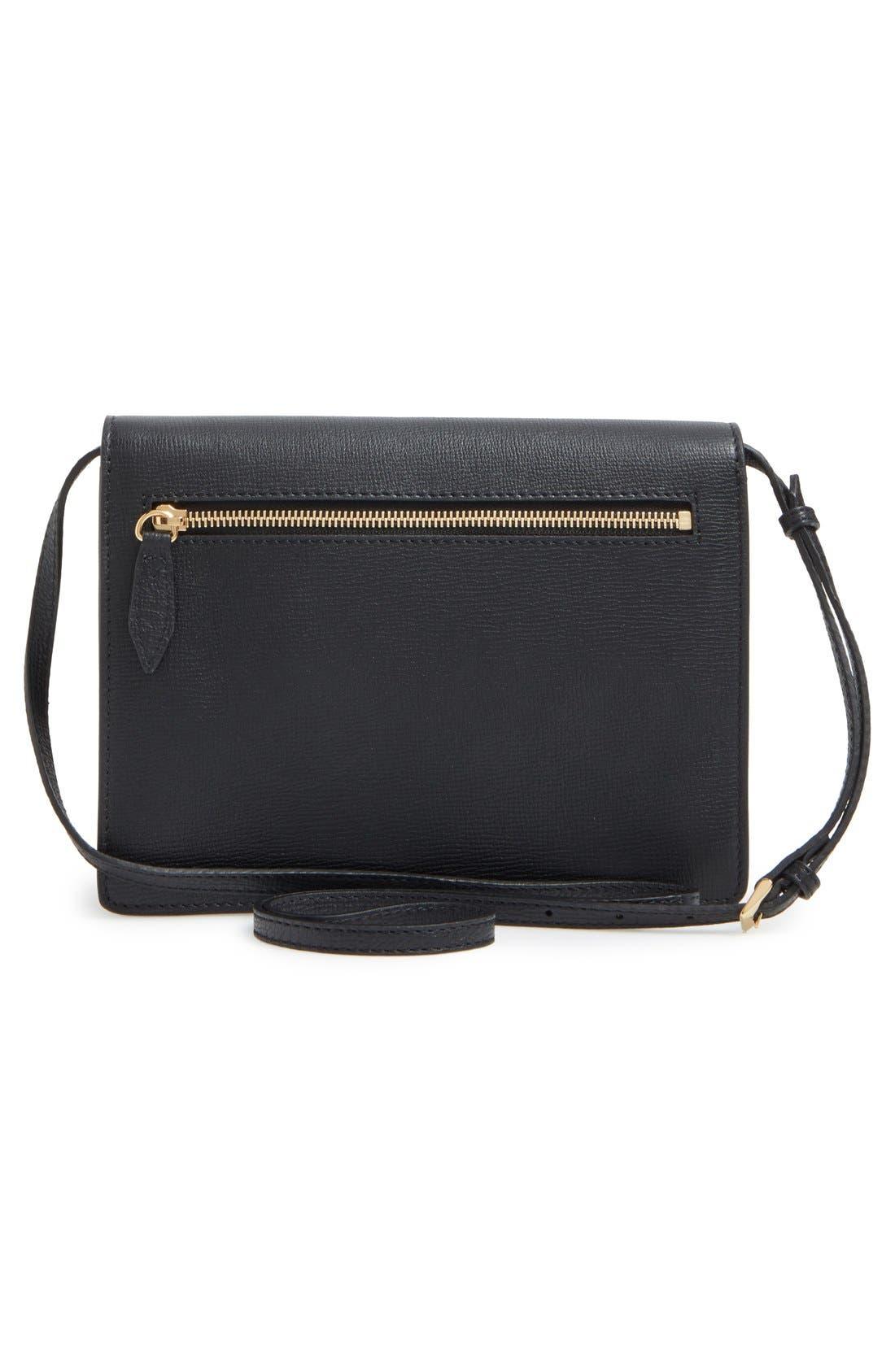 'Small Macken' House Check Crossbody Bag,                             Alternate thumbnail 4, color,                             BLACK