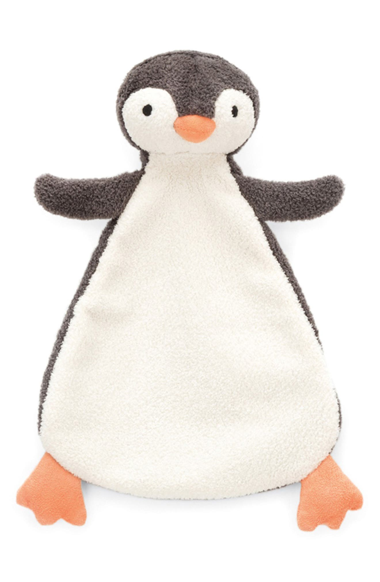Pippet Penguin Soother Blanket,                             Main thumbnail 1, color,                             BLACK / WHITE