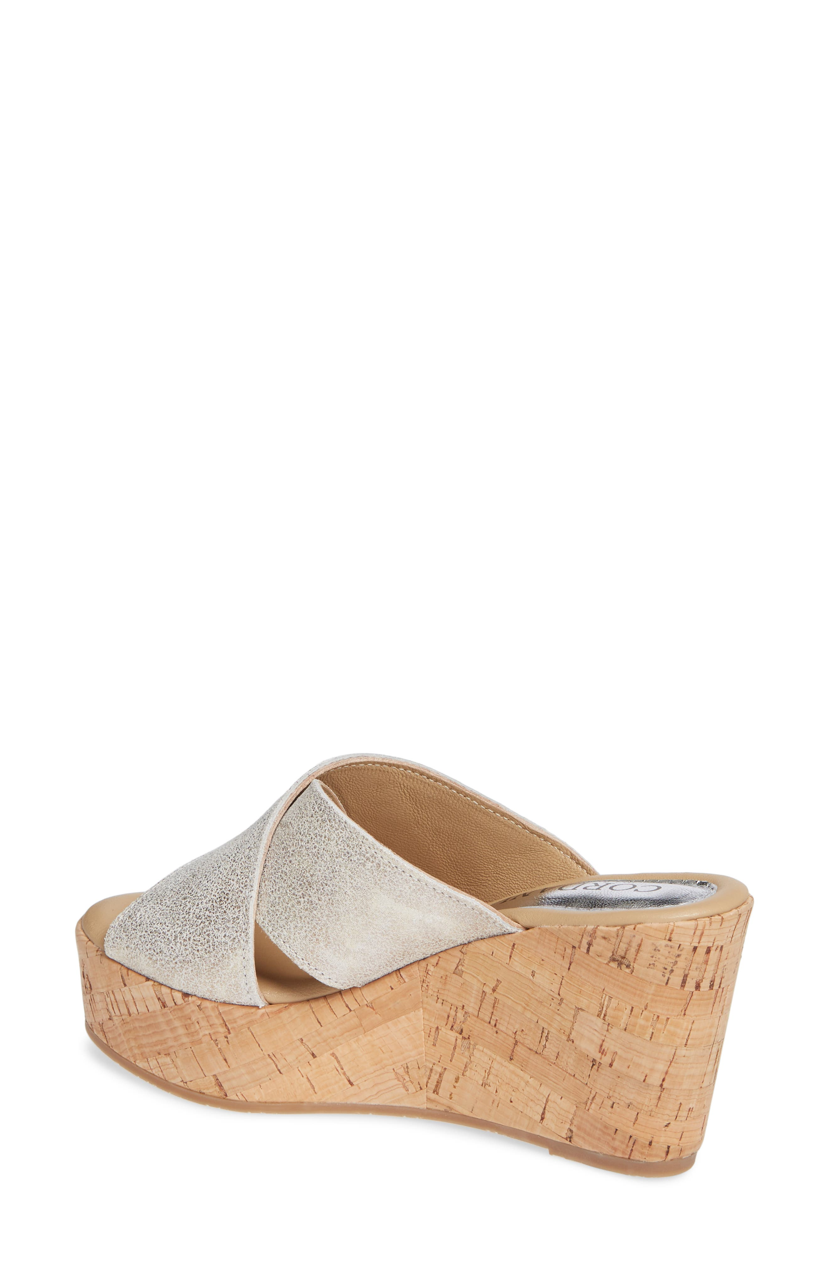 Jan Platform Wedge Slide Sandal,                             Alternate thumbnail 2, color,                             PEARL SUEDE