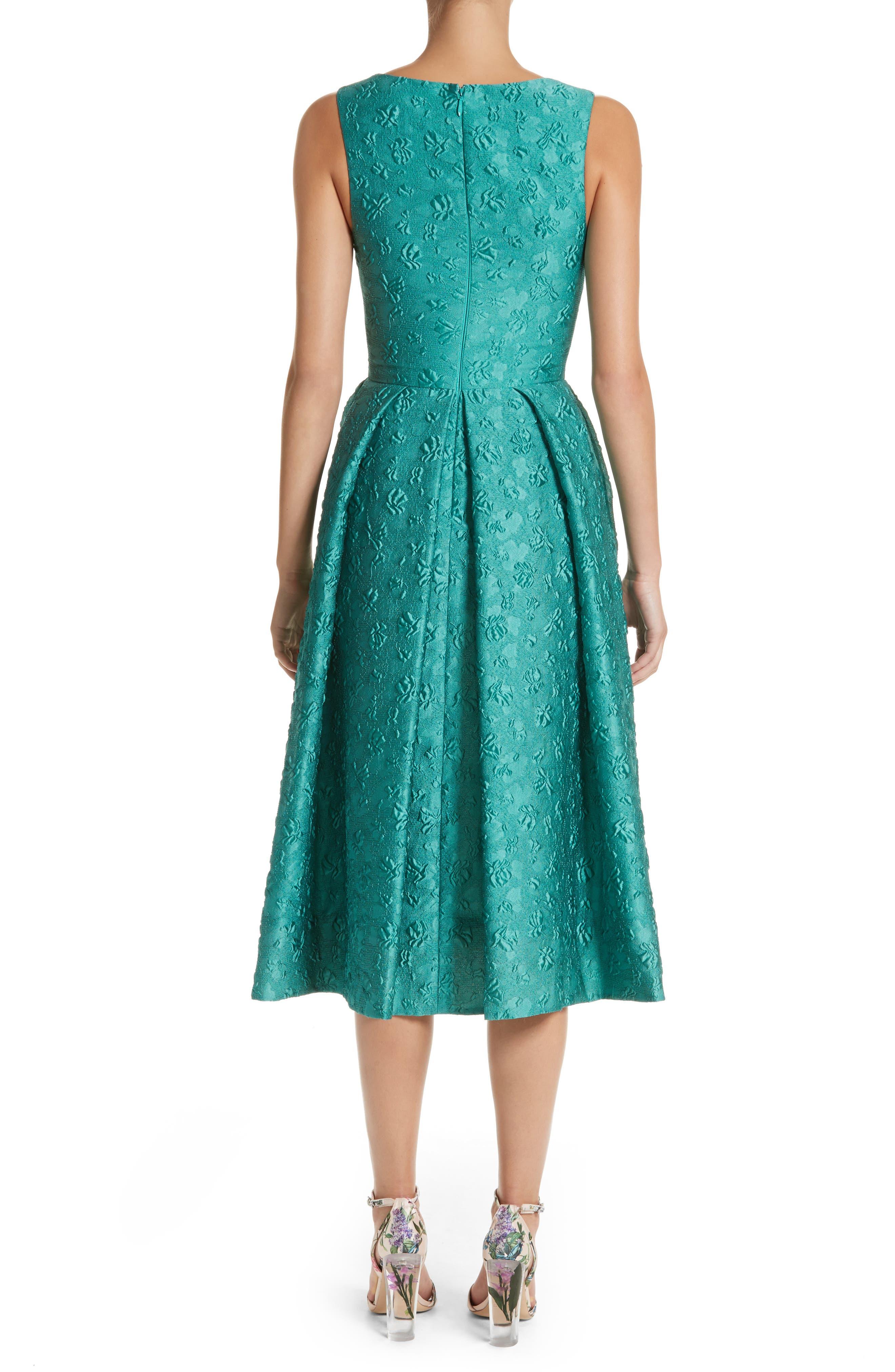 Matelassé A-Line Dress,                             Alternate thumbnail 2, color,                             440