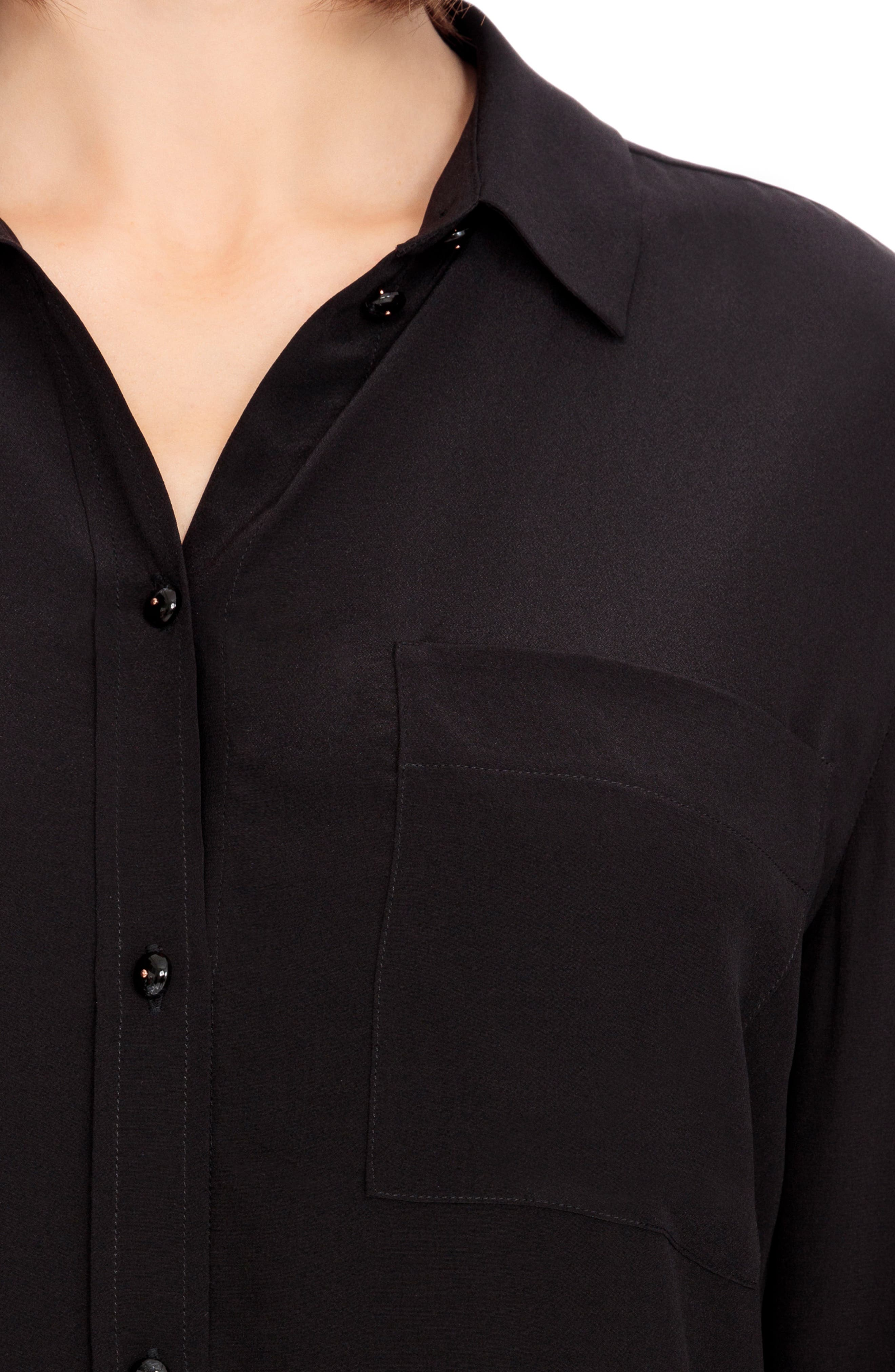 Boy Silk Shirt,                             Alternate thumbnail 4, color,                             001