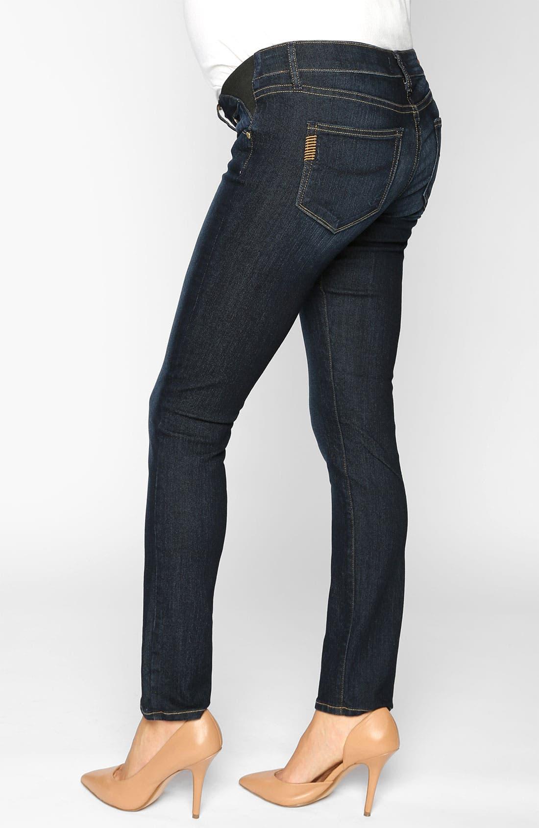 Denim 'Skyline' Maternity Skinny Jeans,                             Alternate thumbnail 2, color,                             400