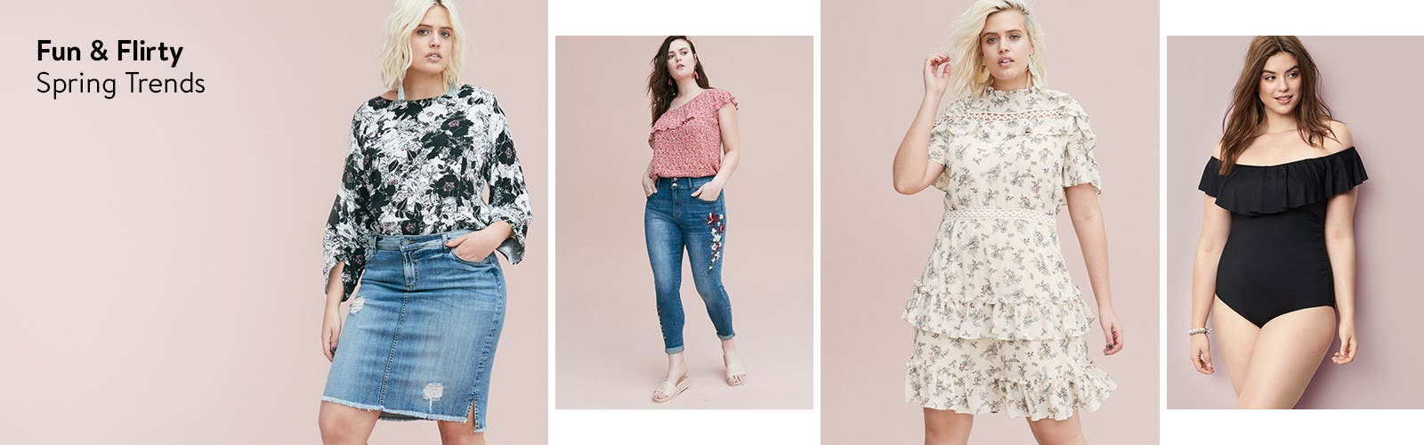 Fun and flirty plus-size spring trends.