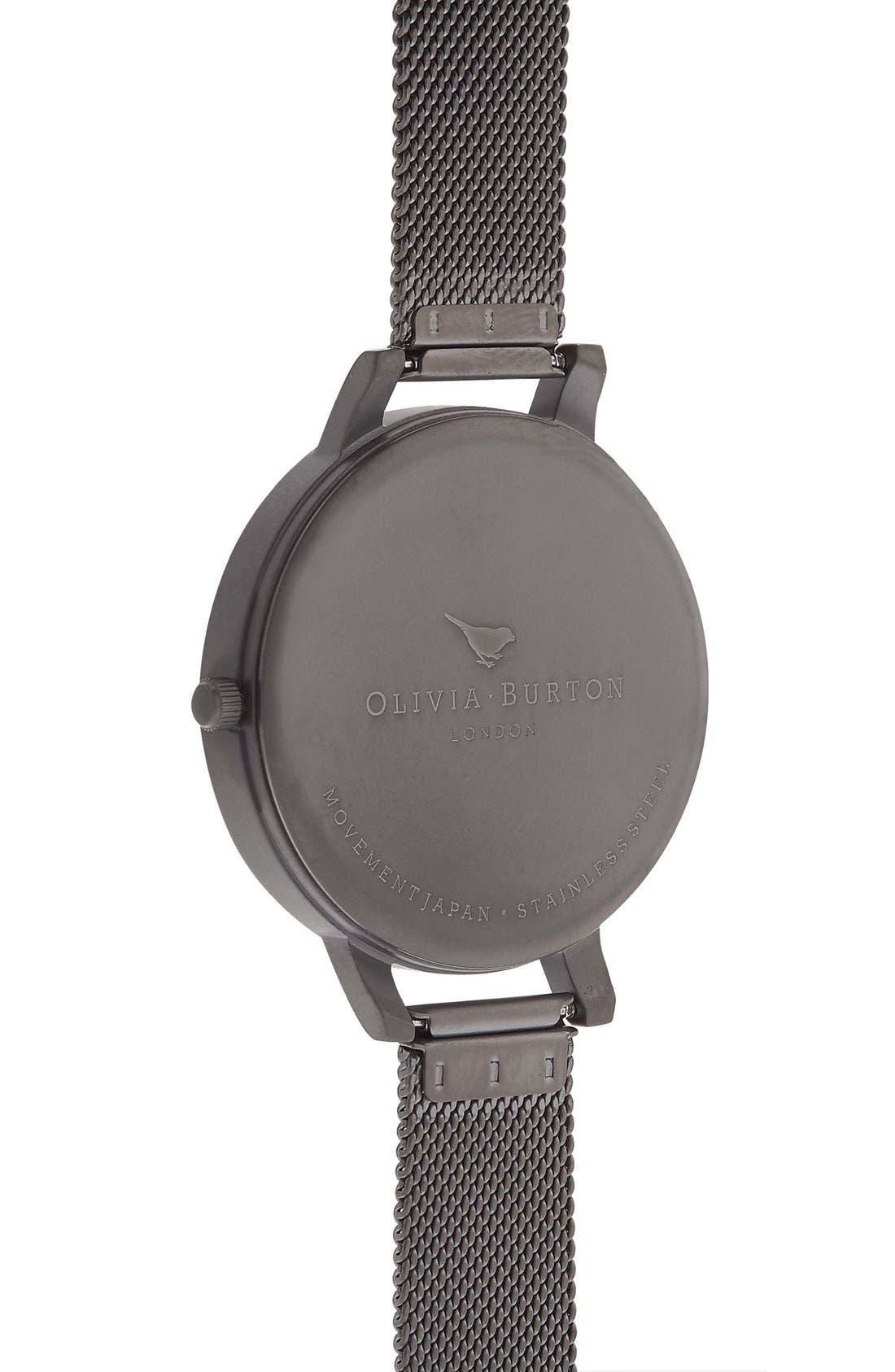 'Big Dial' Mesh Strap Watch, 38mm,                             Alternate thumbnail 35, color,