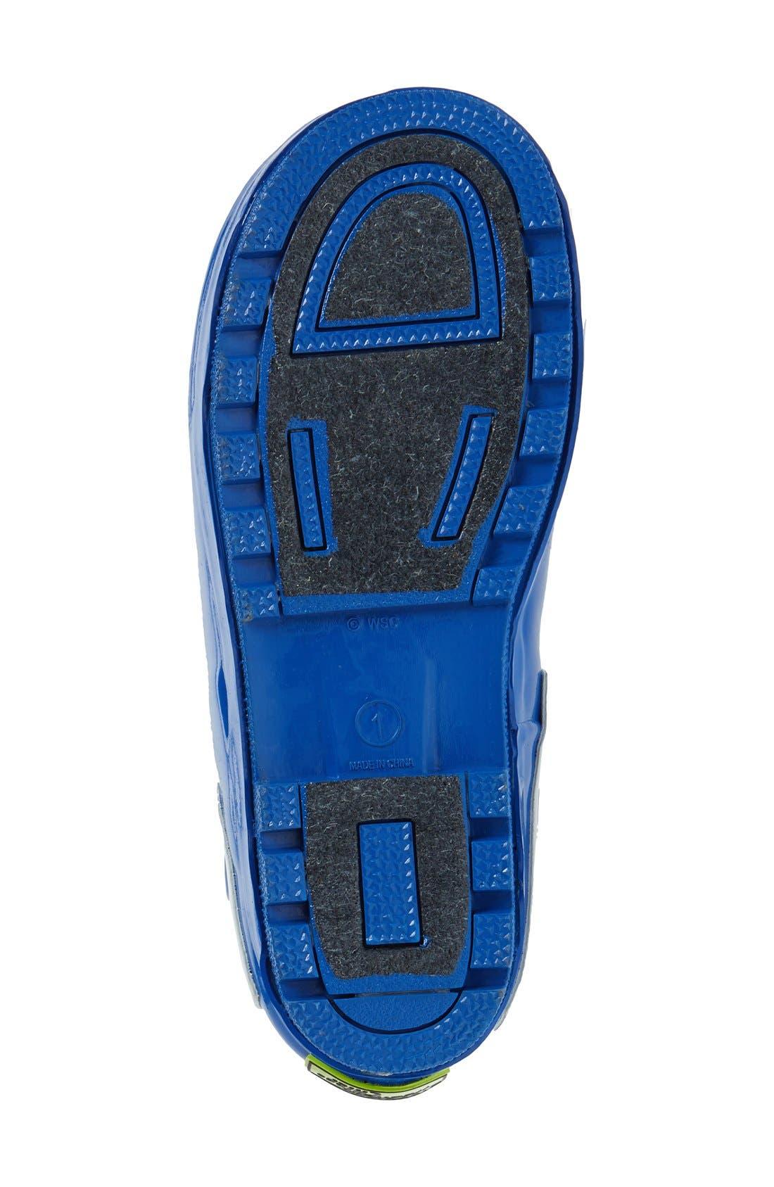 'Star Wars<sup>™</sup> - R2-D2' Waterproof Rain Boot,                             Alternate thumbnail 4, color,                             100