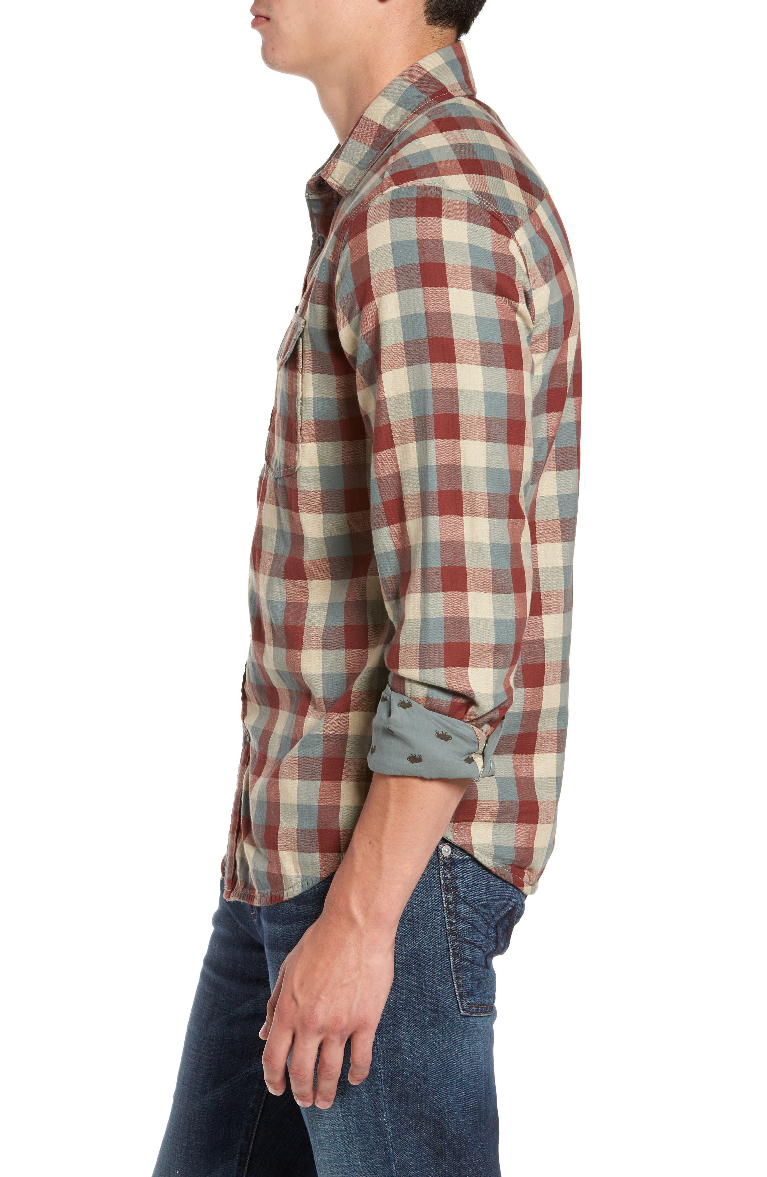 Reversible Regular Fit Sport Shirt,                             Alternate thumbnail 3, color,                             424