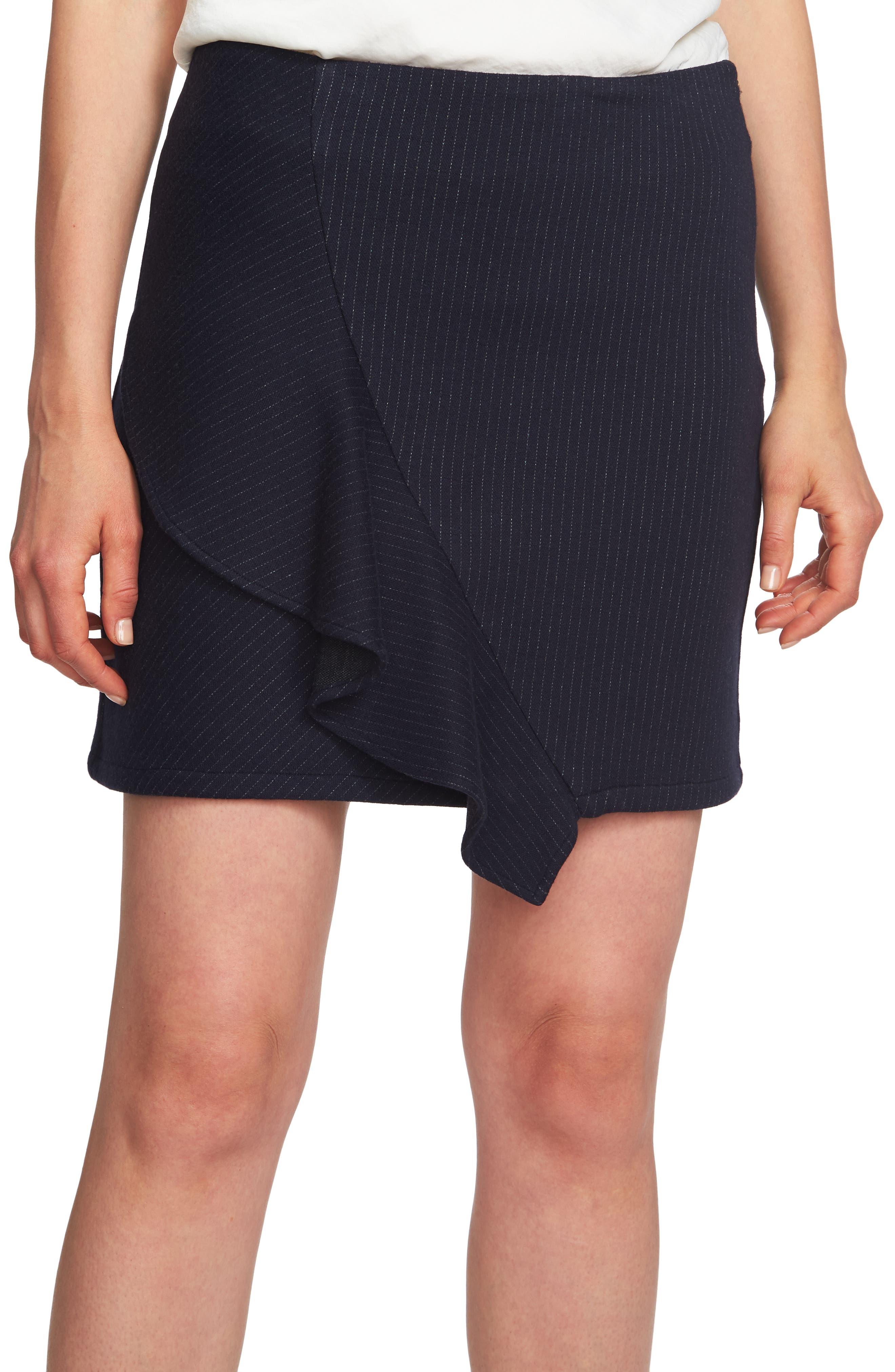 1.state Ruffle Pinstripe Miniskirt
