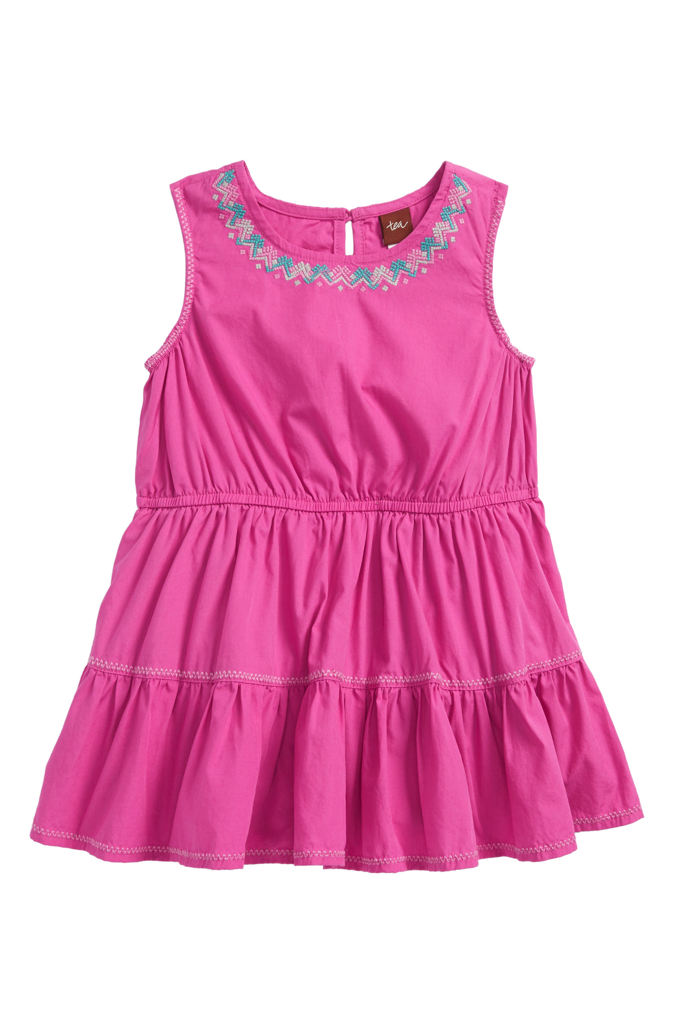 Embroidered Tiered Skirted Bodysuit,                             Main thumbnail 1, color,