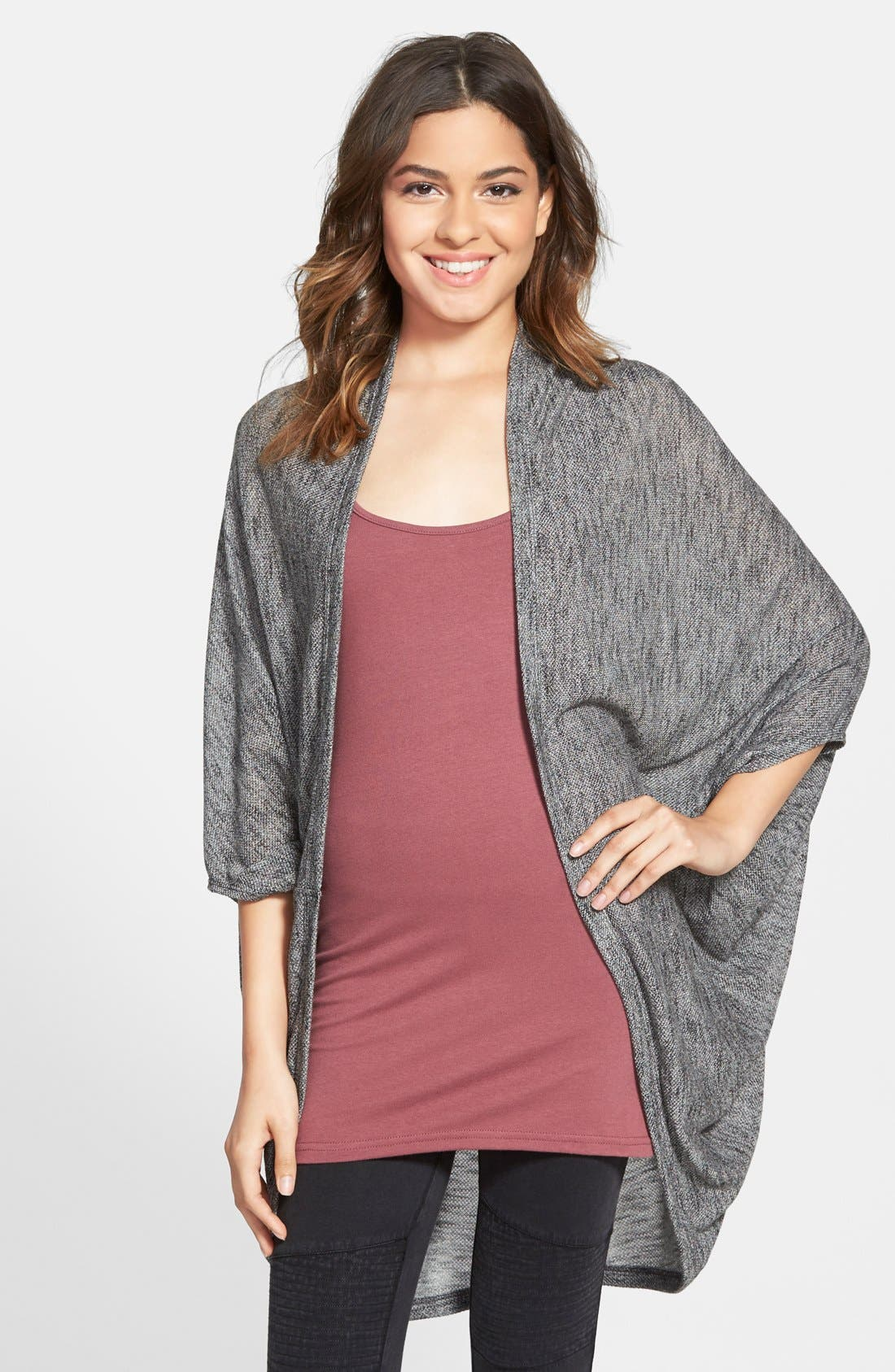 Lightweight Cocoon Cardigan,                             Main thumbnail 1, color,                             001