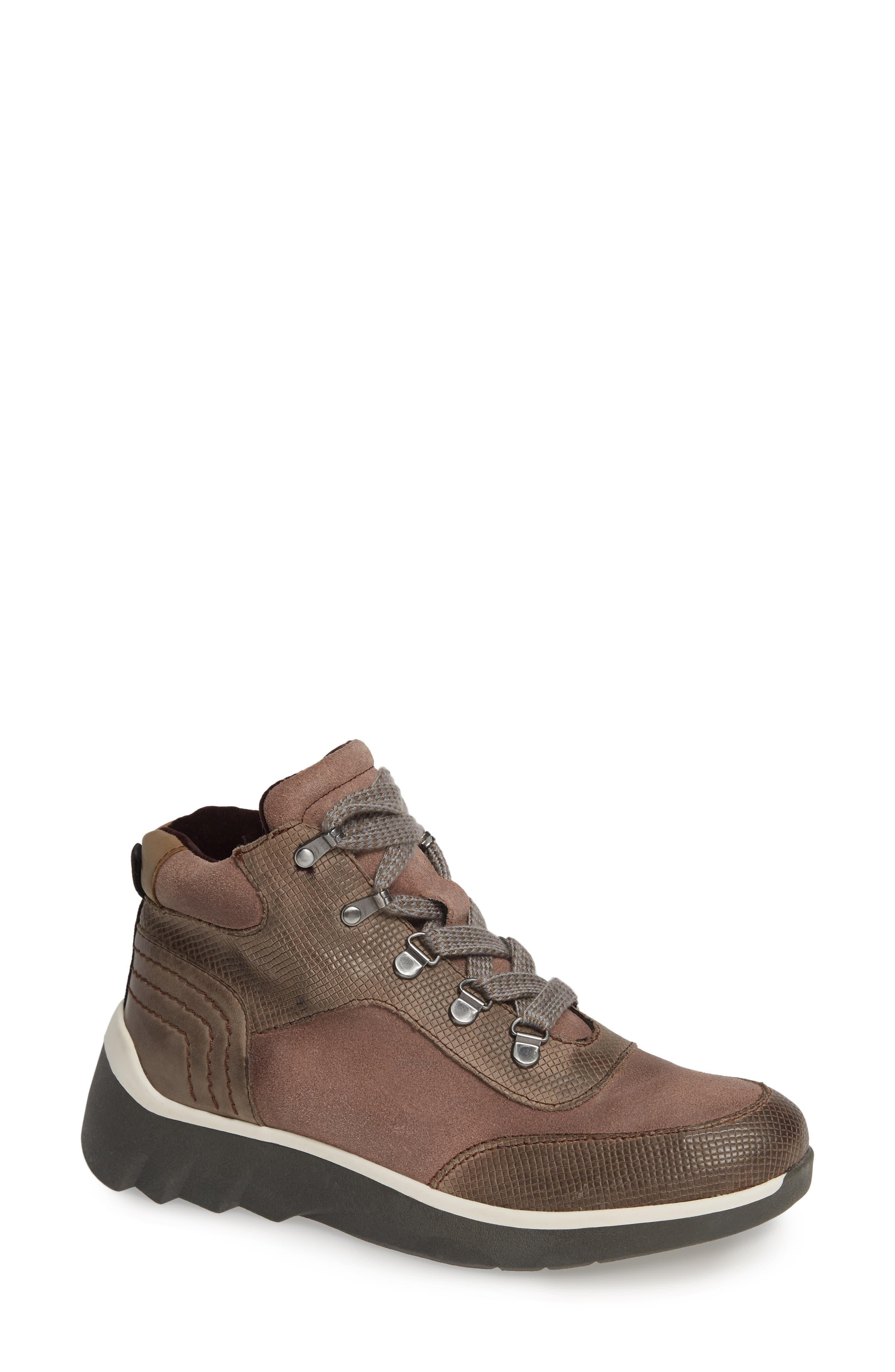 Commuter Sneaker,                             Main thumbnail 1, color,                             CINDER LEATHER